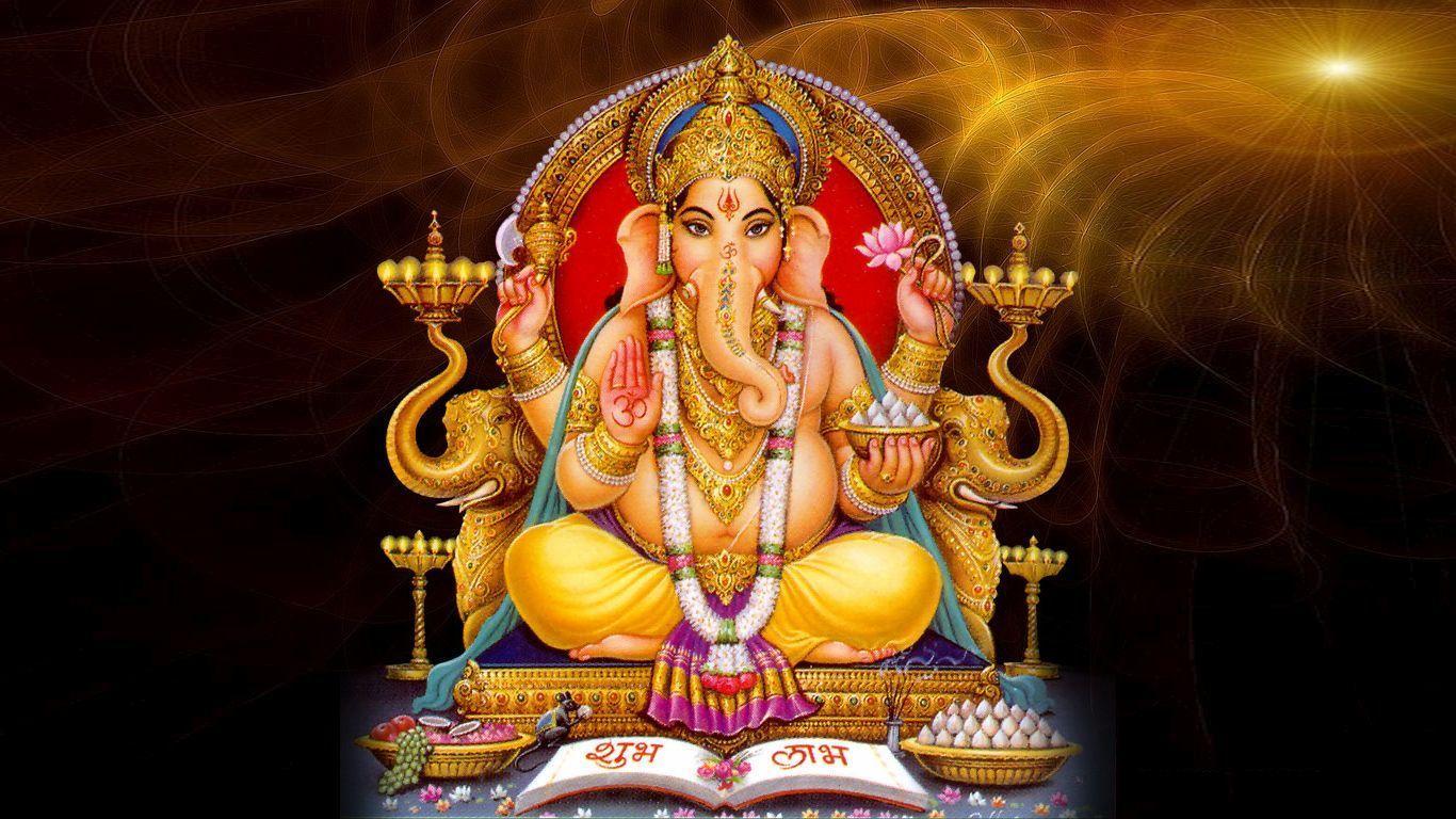 1366x768 Hình ảnh Ganpati Bappa Mới nhất.  Các vị thần và nữ thần của đạo Hindu