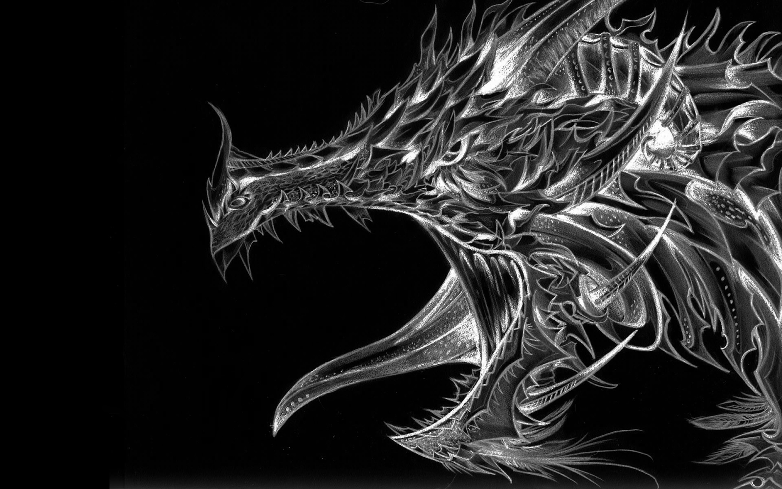 Silver Dragon Wallpapers Top Free Silver Dragon Backgrounds Wallpaperaccess