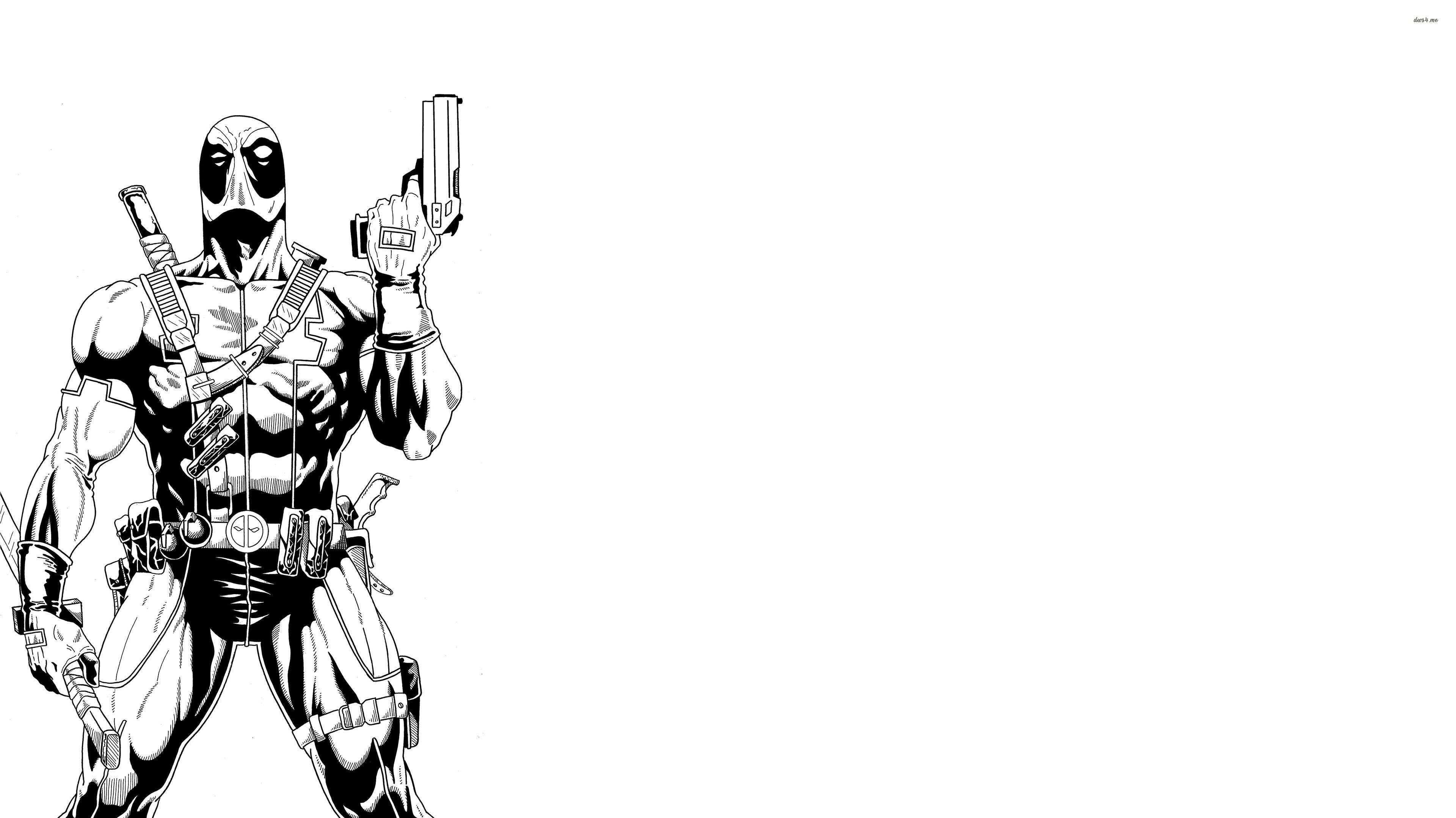 Deadpool White Wallpapers Top Free Deadpool White Backgrounds Wallpaperaccess
