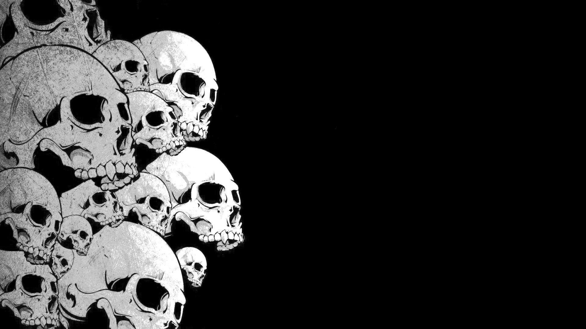 Black And White Skull Wallpapers Top Free Black And White Skull Backgrounds Wallpaperaccess