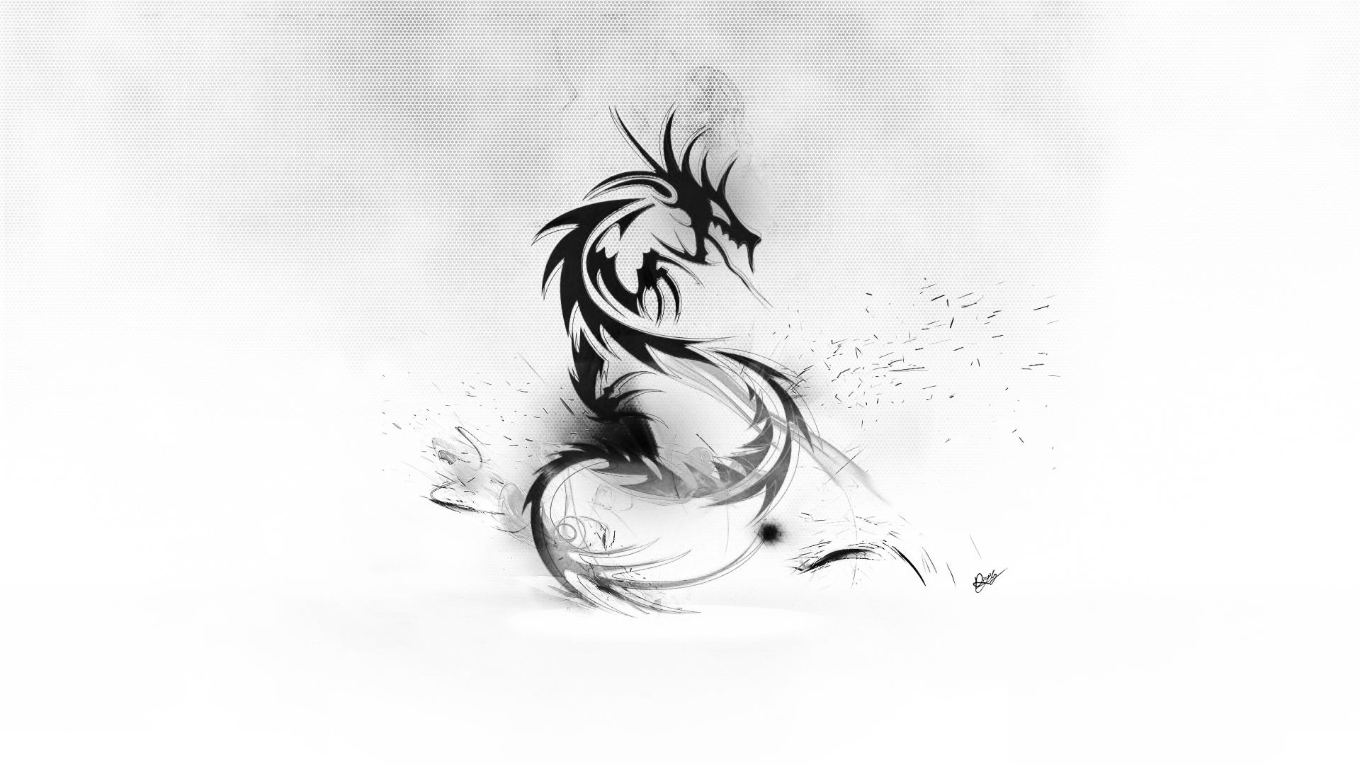 Black And White Dragon Wallpapers Top Free Black And White Dragon Backgrounds Wallpaperaccess