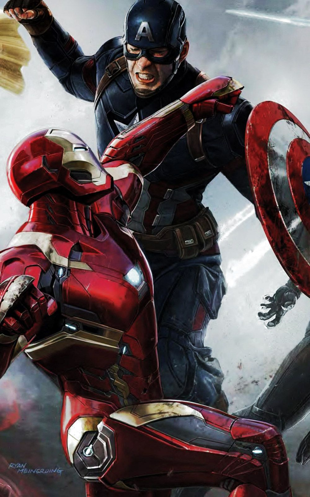 Captain America Vs Iron Man Wallpapers Top Free Captain America
