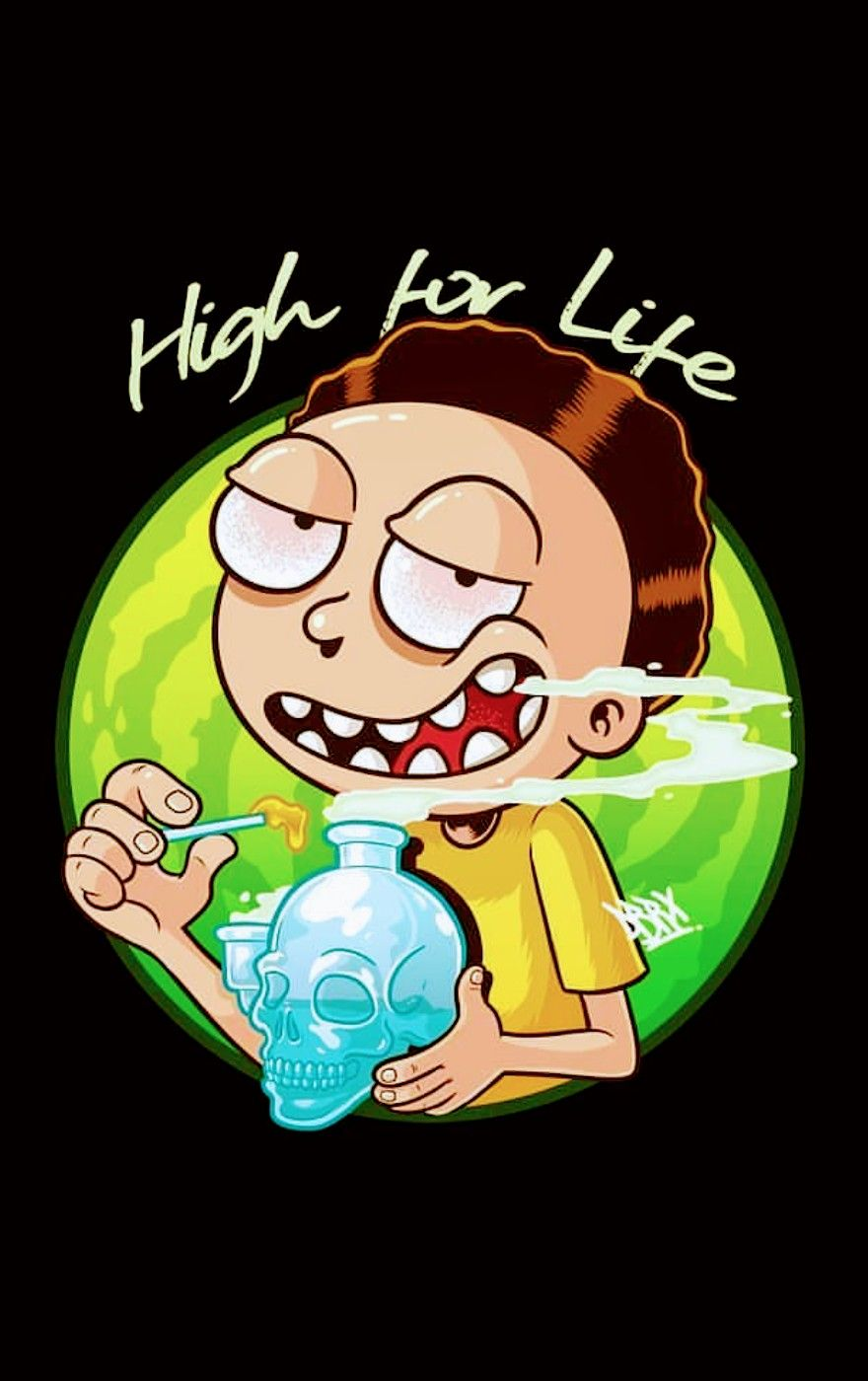 Rick And Morty Weed Wallpapers Top Free Rick And Morty Weed