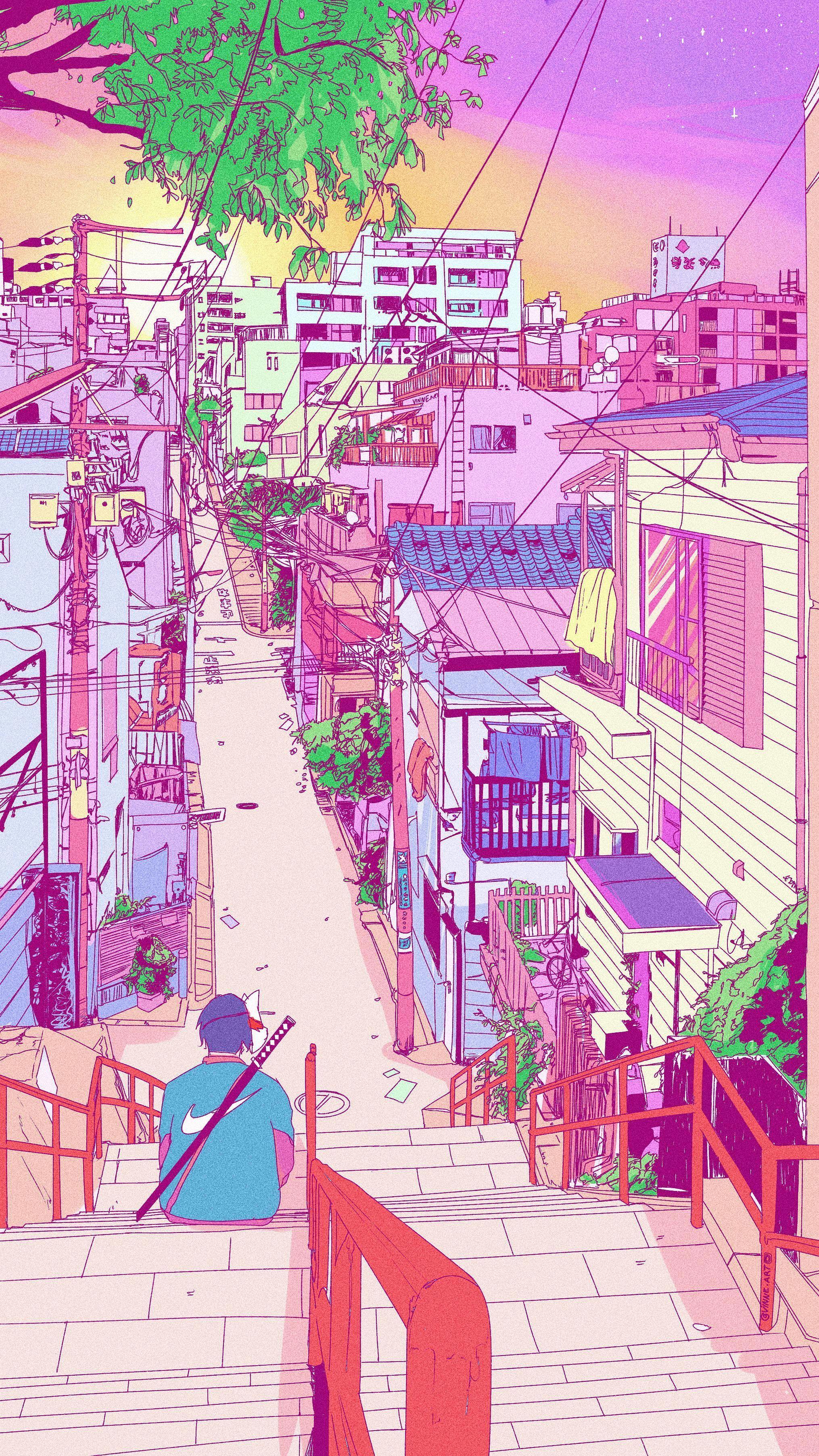 Retro Anime Aesthetic Wallpapers Top Free Retro Anime Aesthetic Backgrounds Wallpaperaccess