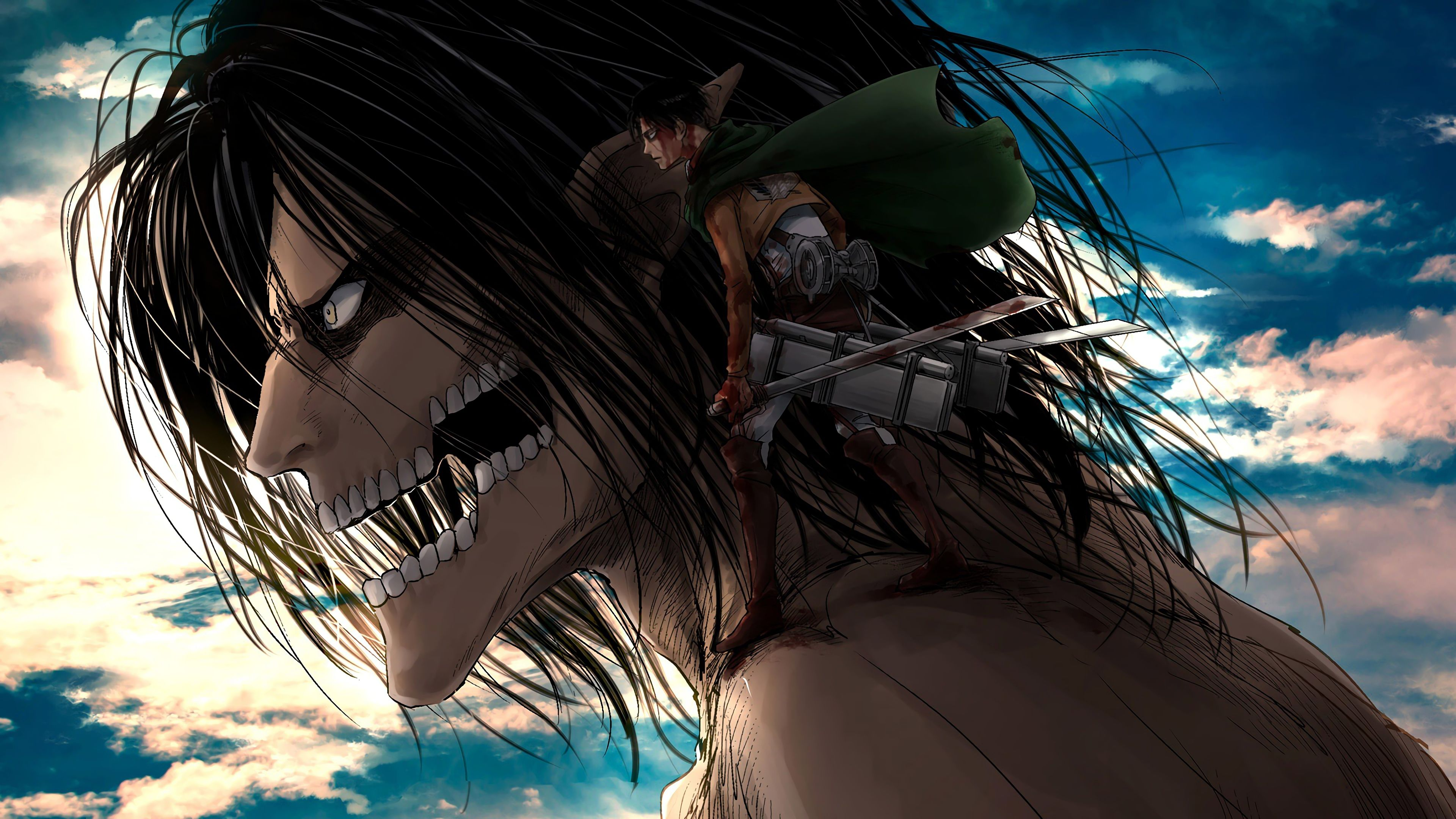 Eren And Levi Wallpapers Top Free Eren And Levi Backgrounds Wallpaperaccess