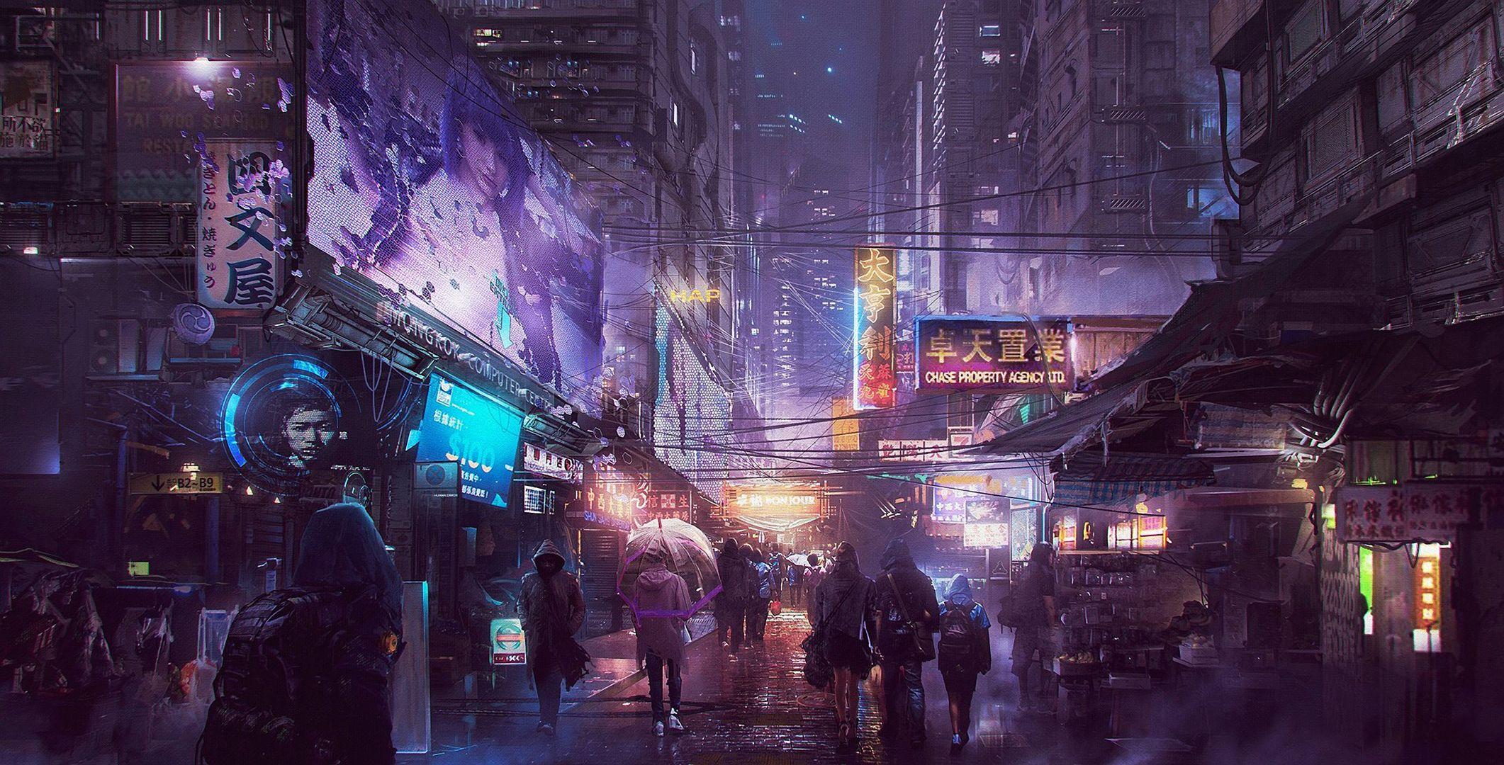 Cyberpunk Street Wallpapers Top Free Cyberpunk Street Backgrounds Wallpaperaccess