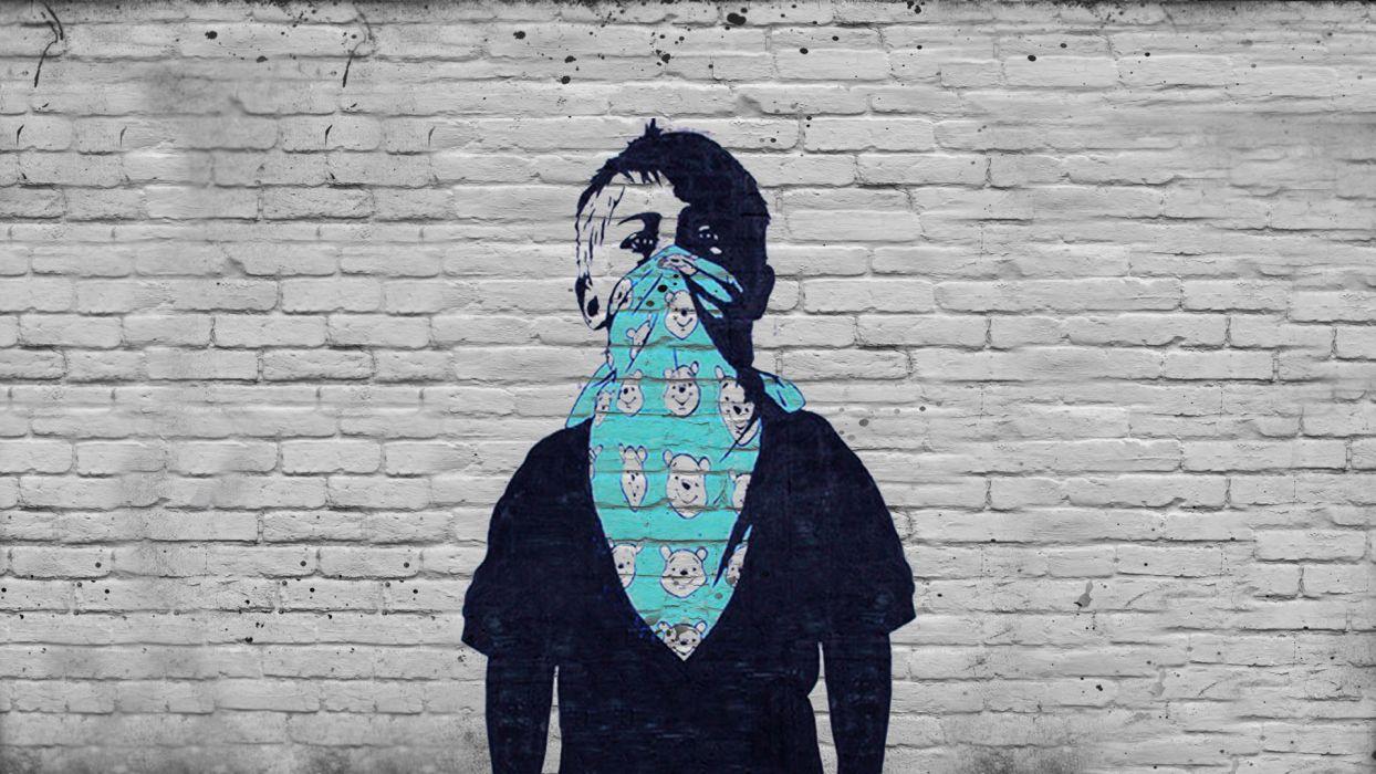 1244x700 Hình nền mặt nạ nghệ thuật đô thị trẻ em graffiti tối vô chính phủ.  1920x1080