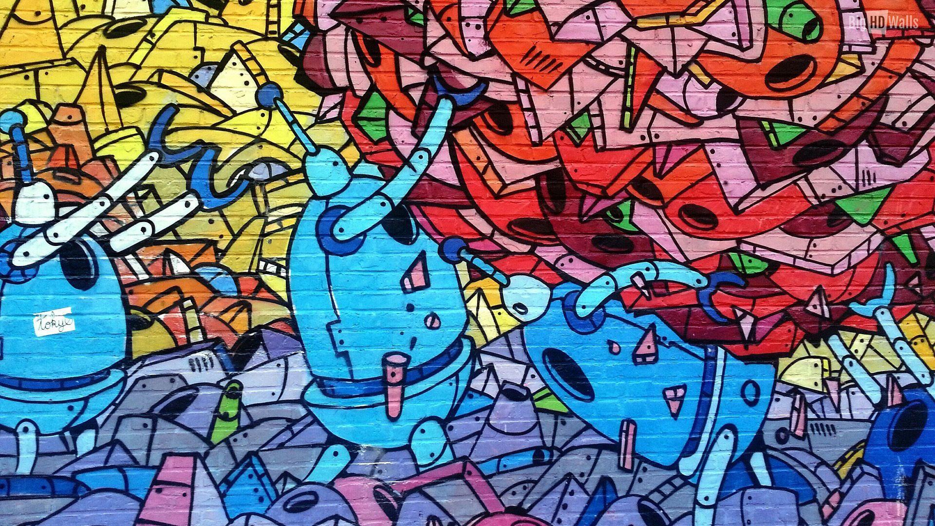 1920x1080 Hình nền Graffiti nghệ thuật đường phố
