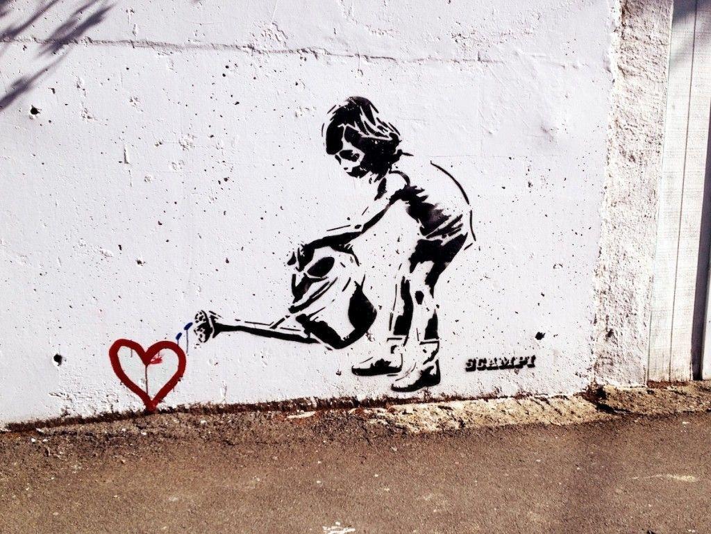 1024x769 Hình nền nghệ thuật đường phố Graffiti Banksy Hình nền nghệ thuật đường phố đô thị