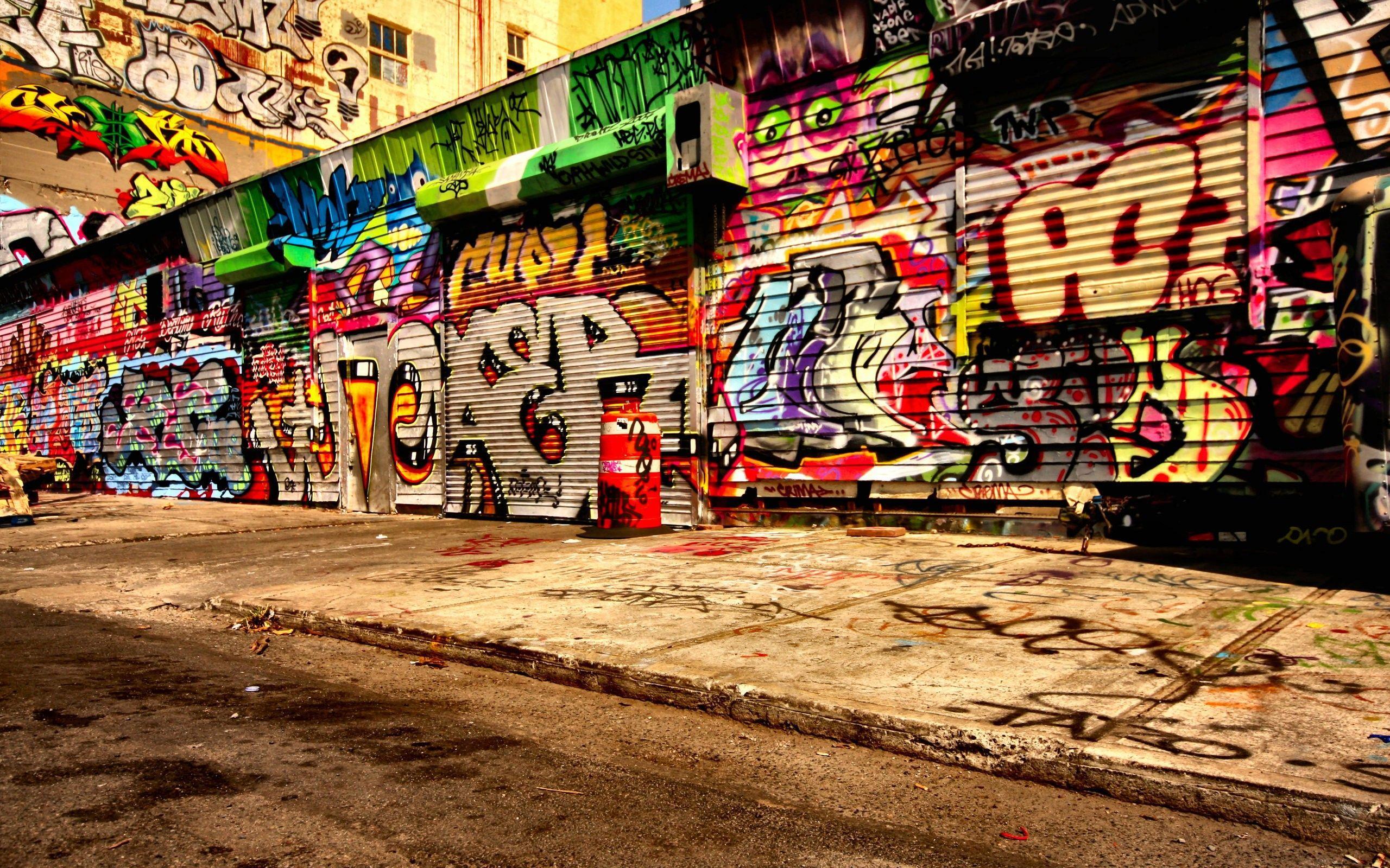 Hình nền nghệ thuật đường phố 2560x1600 - R / EBEL