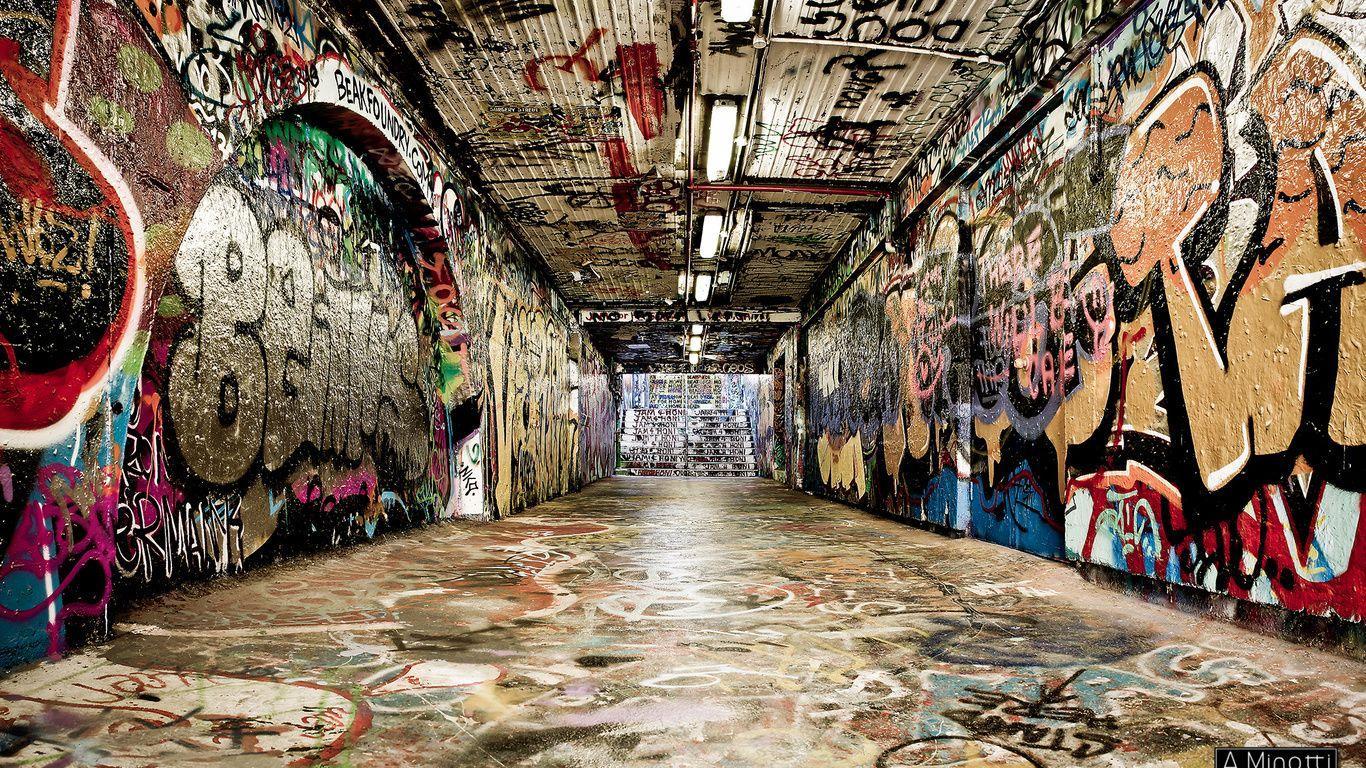 Hình nền nghệ thuật đường phố 1366x768 Graffiti, PC Graffiti Street Art Hình ảnh đẹp