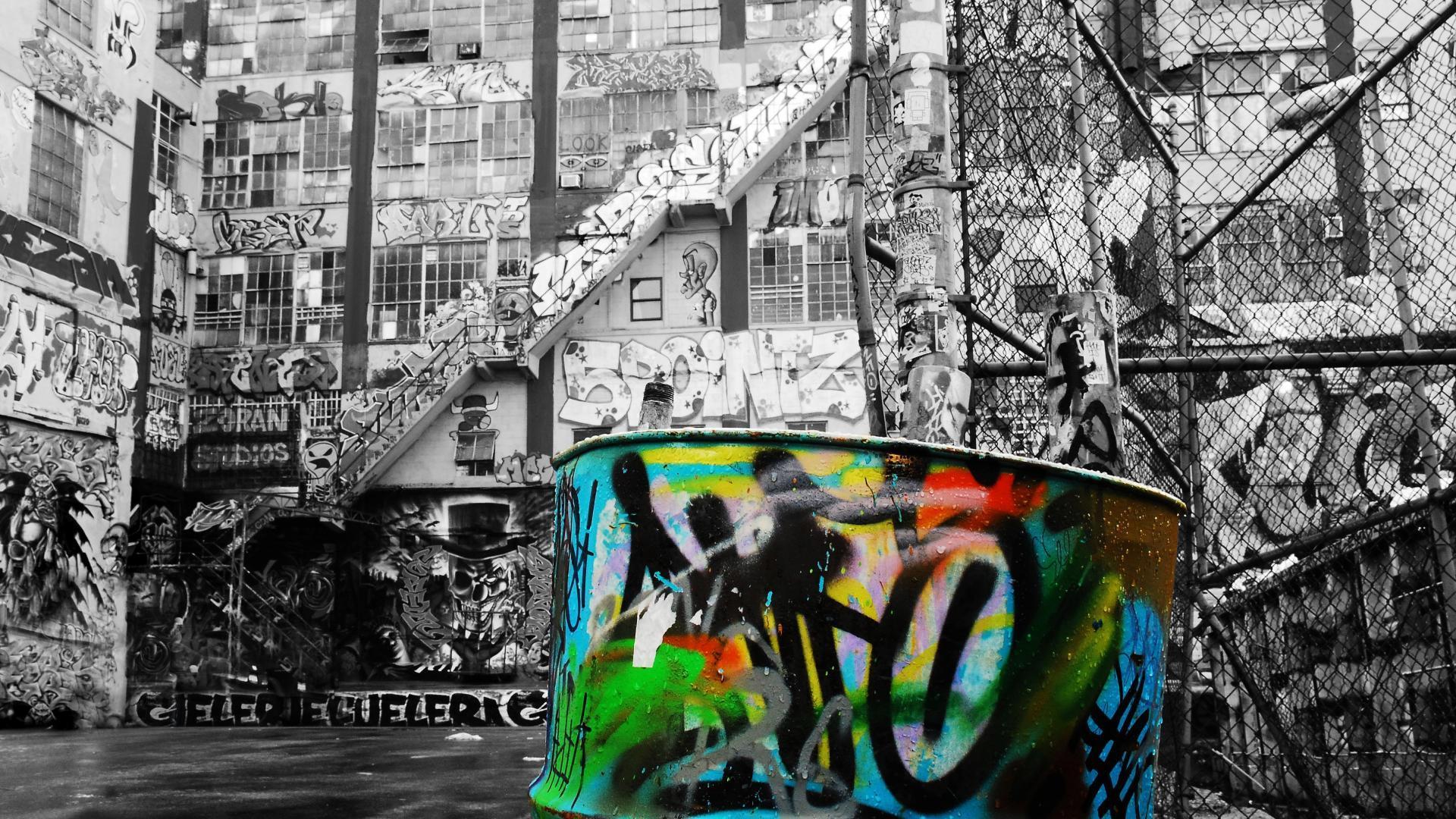 1920x1080 Graffiti hình nền nghệ thuật đường phố chọn lọc màu