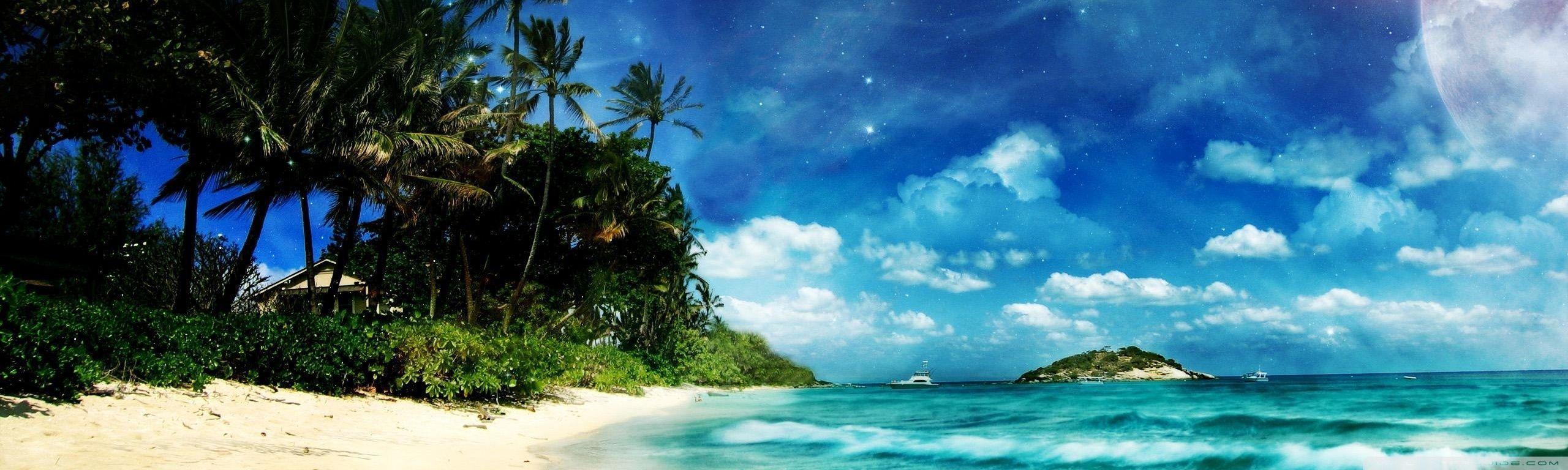 4K Dual Monitor Beach Wallpapers - Top Free 4K Dual ...