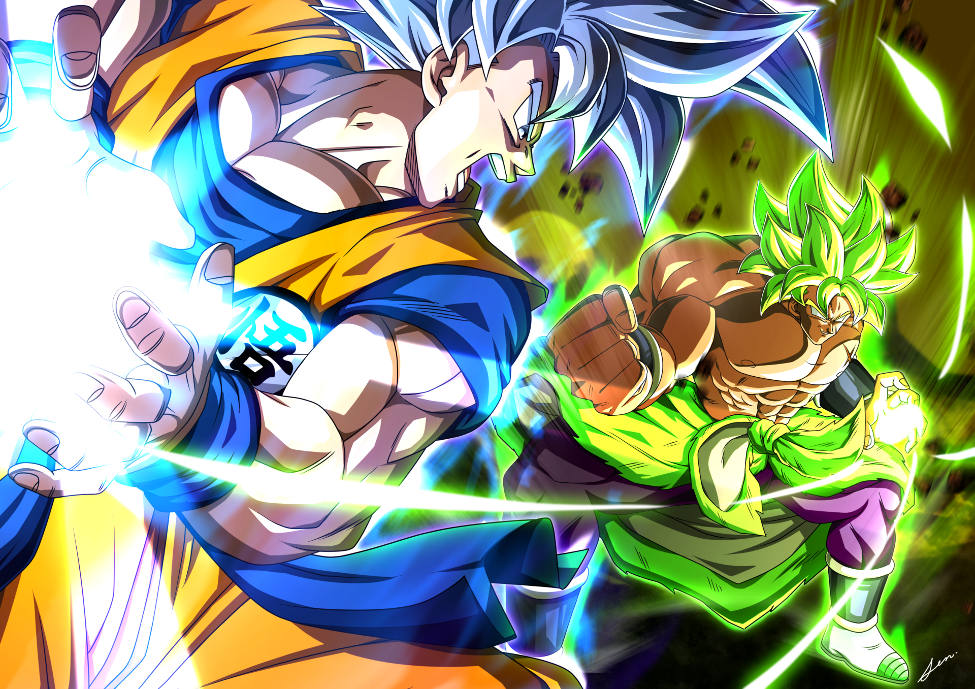 Goku Vs Broly Wallpapers Top Free Goku Vs Broly Backgrounds Wallpaperaccess