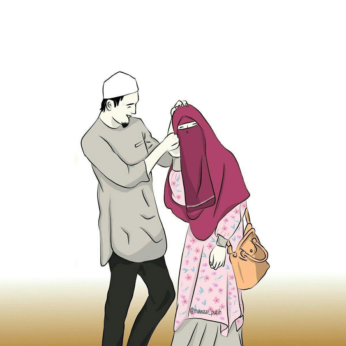 Muslim Couple Cartoon Wallpapers Top Free Muslim Couple Cartoon Backgrounds Wallpaperaccess