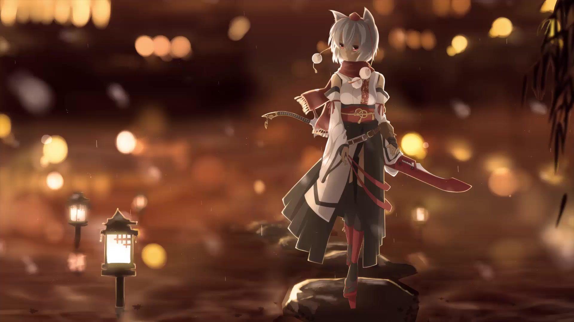 1920x1080 Touhou Fox Girl Anime Hình nền sống HD