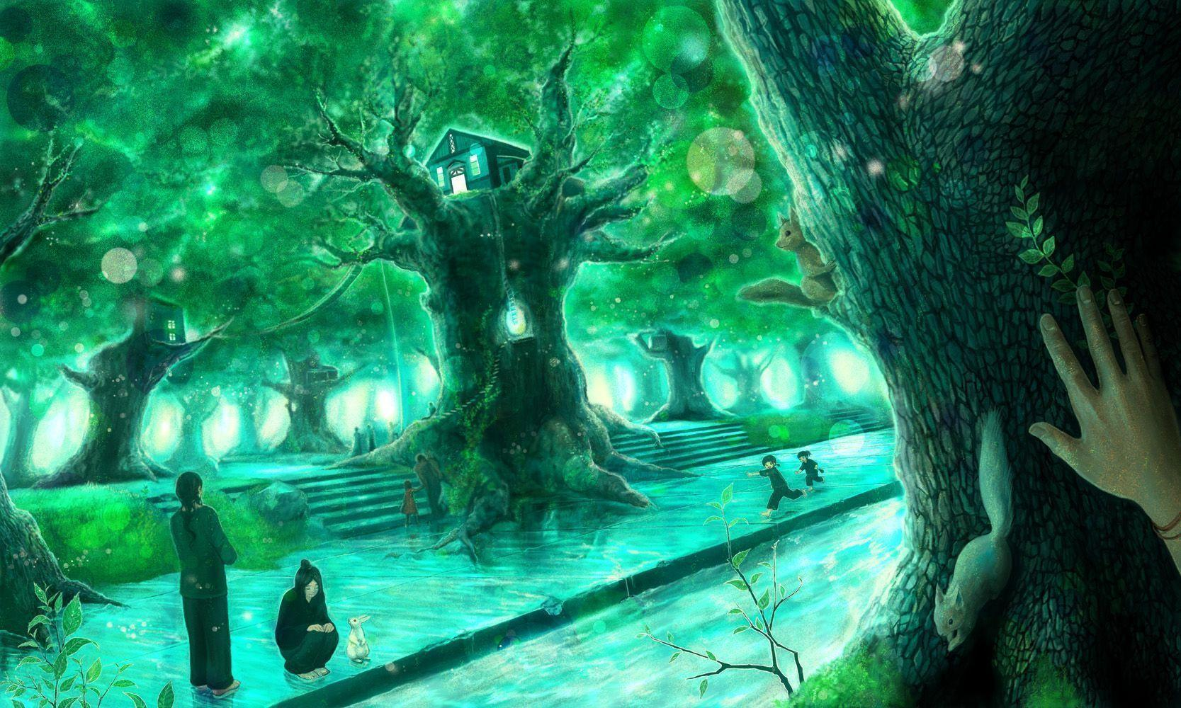 Anime Green Wallpapers Top Free Anime Green Backgrounds Wallpaperaccess