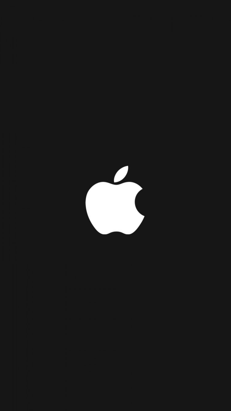 black wallpaper apple