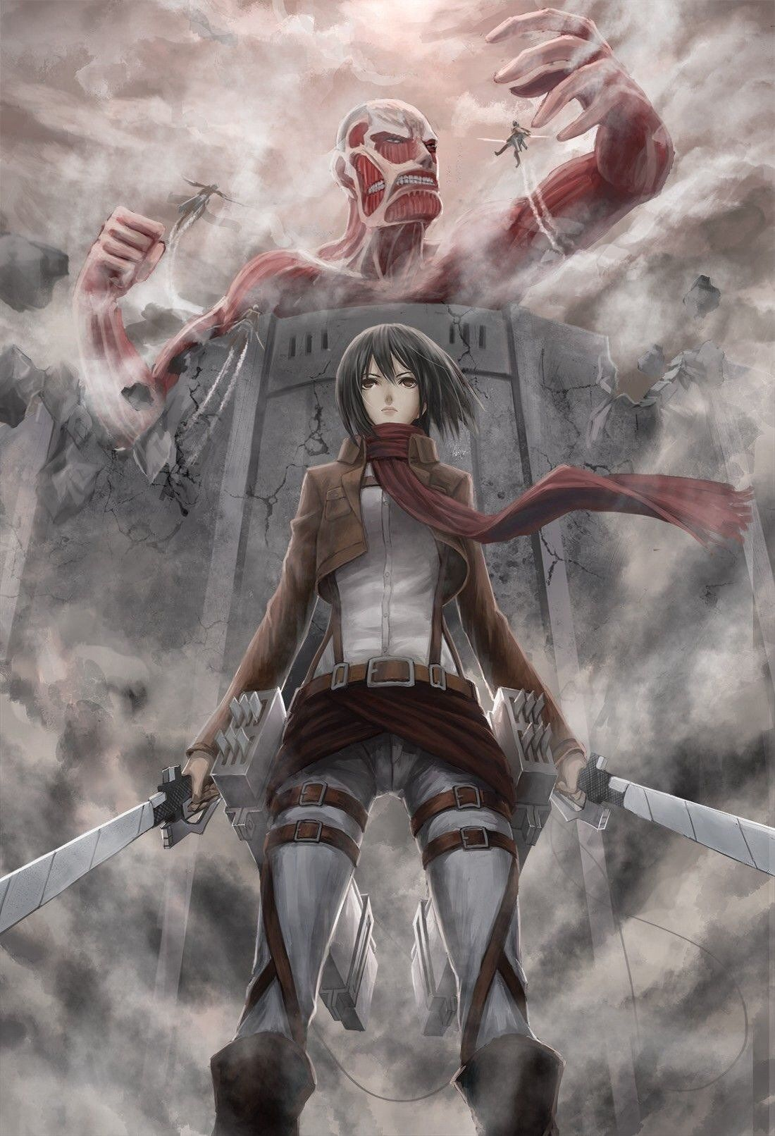 Attack On Titan Iphone Wallpapers Top Free Attack On Titan Iphone Backgrounds Wallpaperaccess