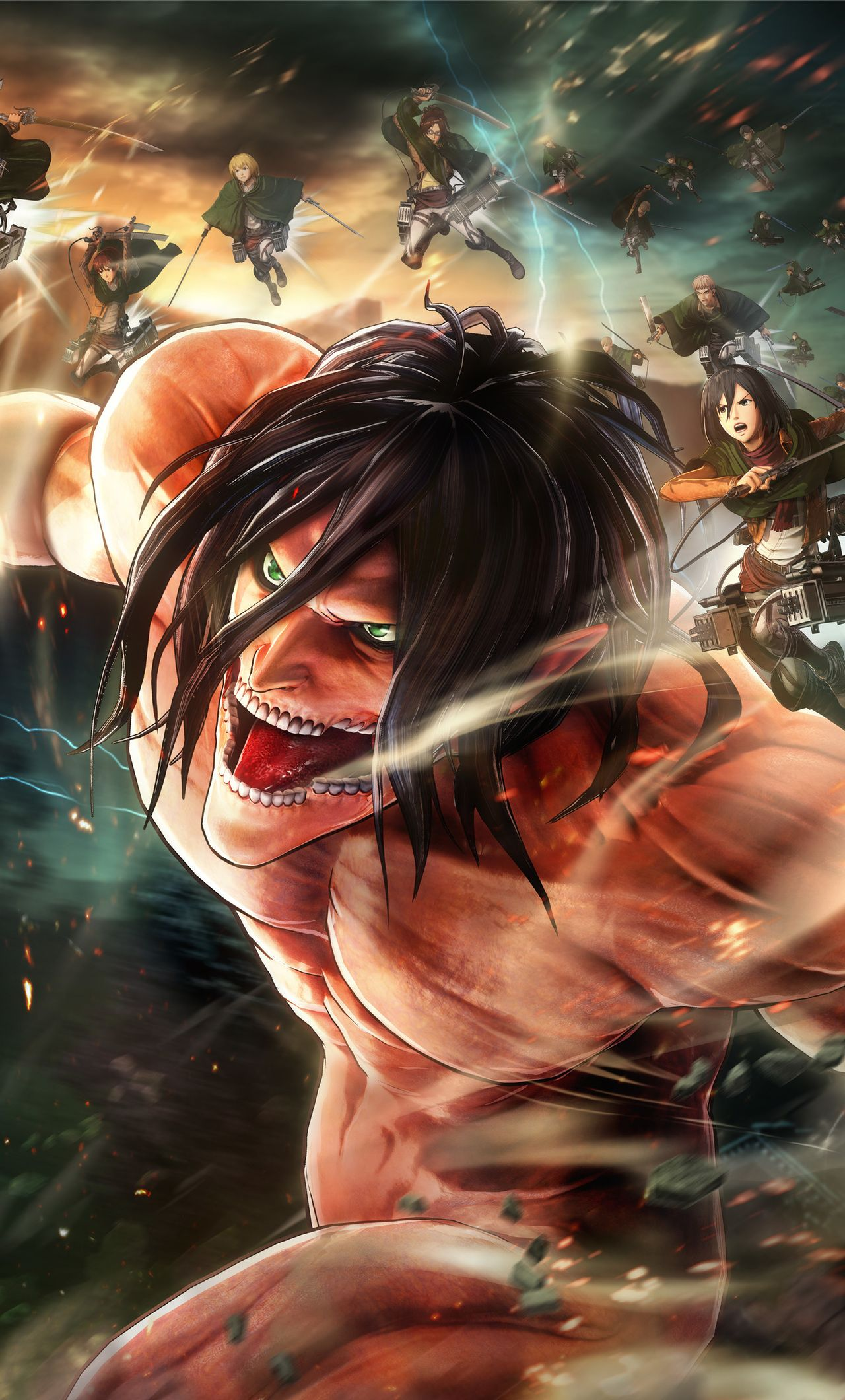 Home Screen Attack On Titan Iphone Wallpaper