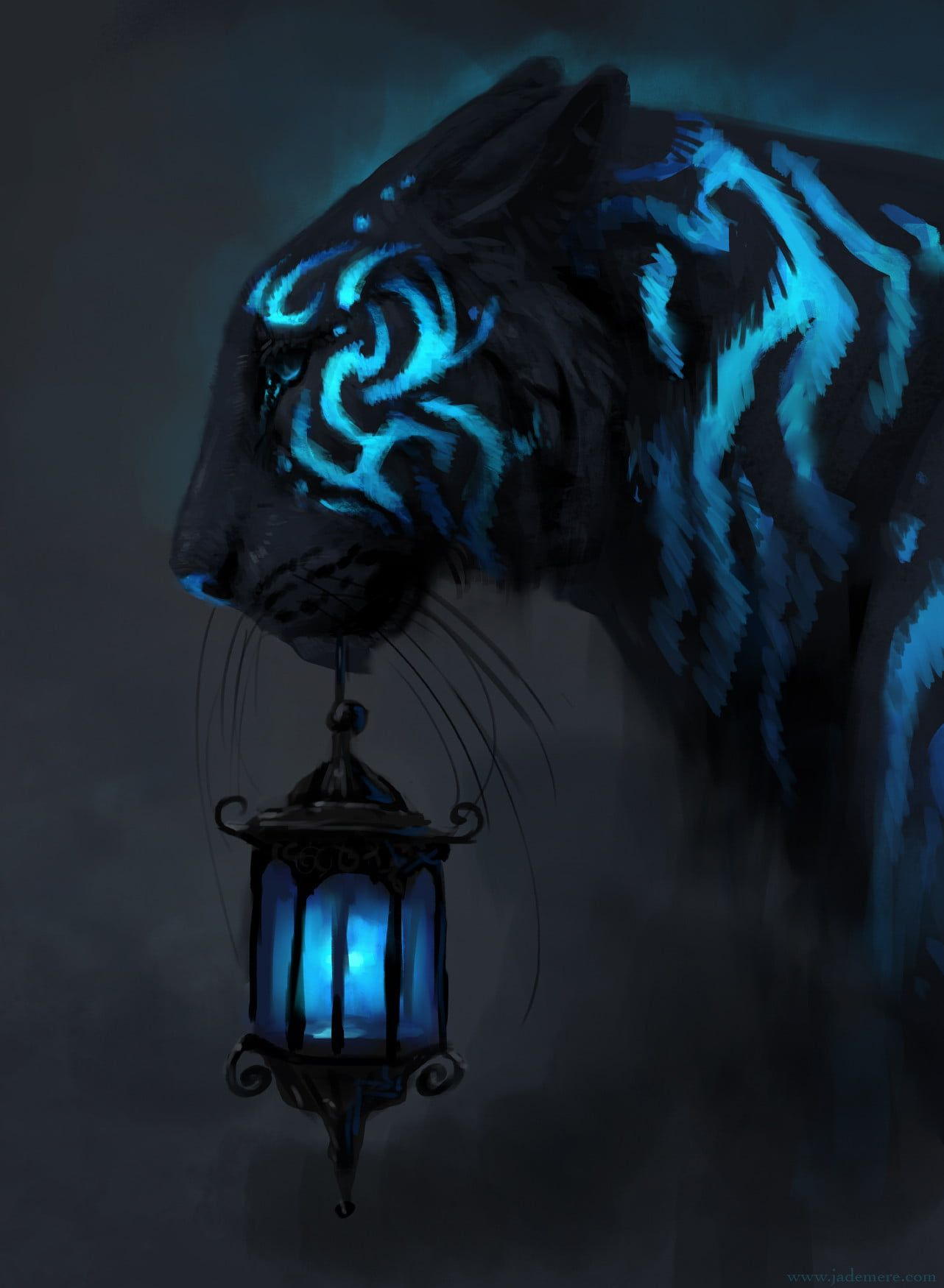 Blue Tiger Wallpapers Top Free Blue Tiger Backgrounds Wallpaperaccess