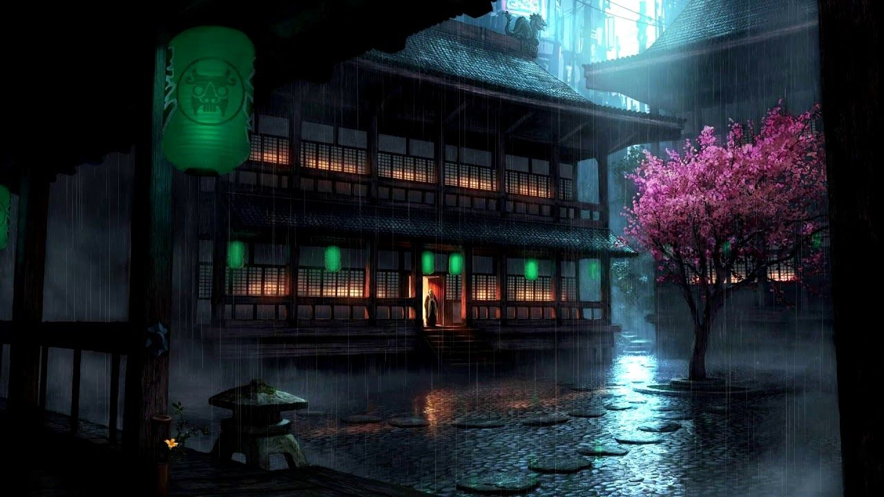 Anime Rain Live Wallpapers Top Free Anime Rain Live Backgrounds Wallpaperaccess