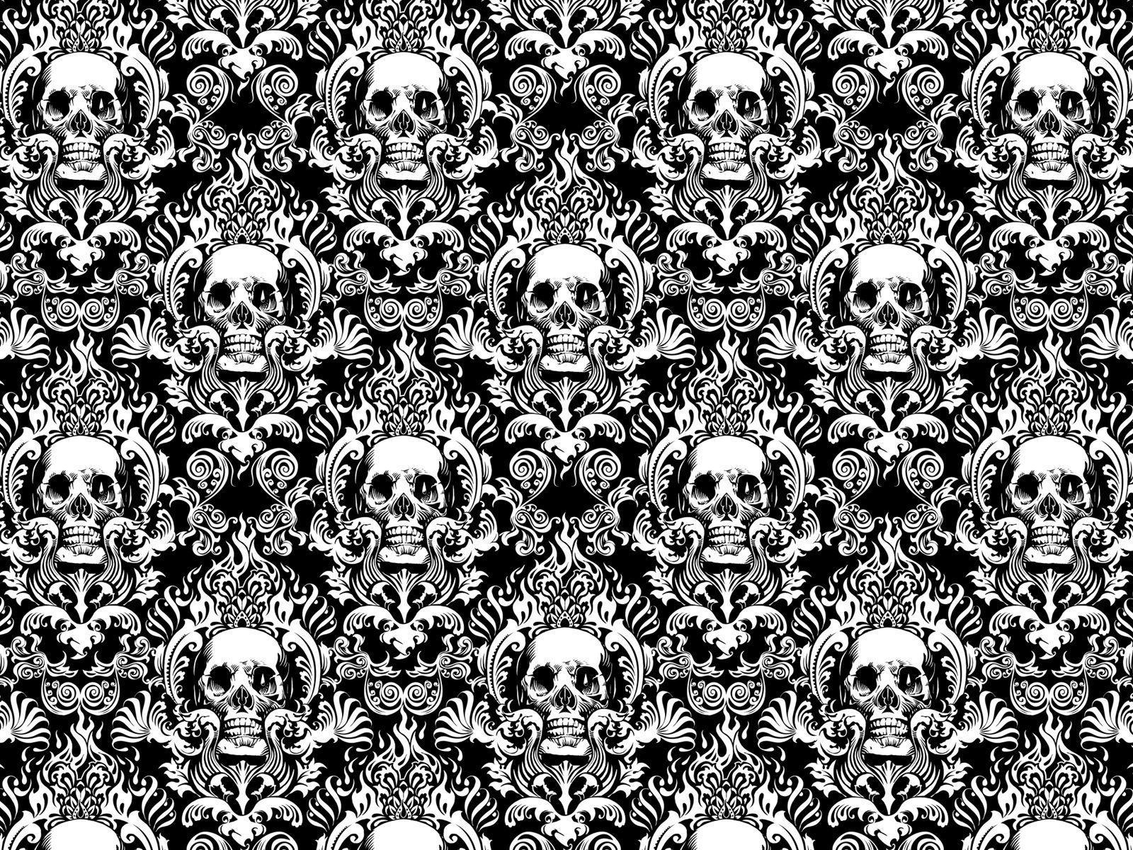 Skull Pattern Wallpapers Top Free Skull Pattern