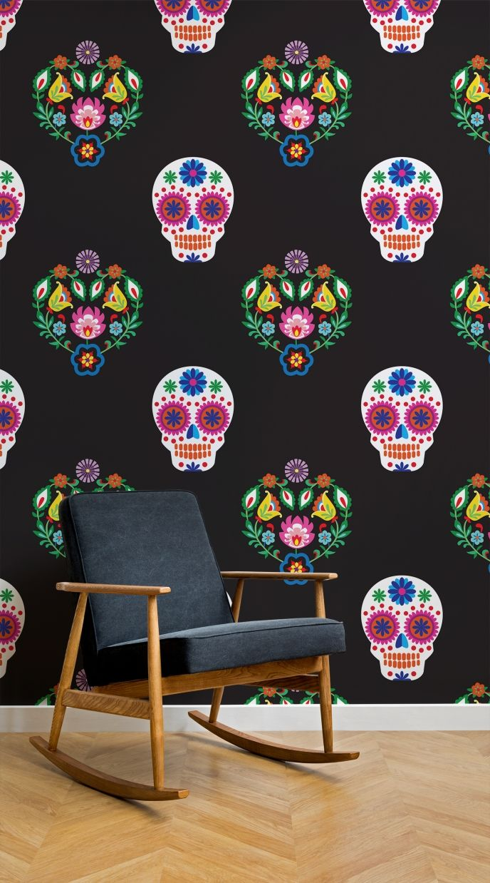 1024x768 Skull Pattern Wallpaper Tumblr