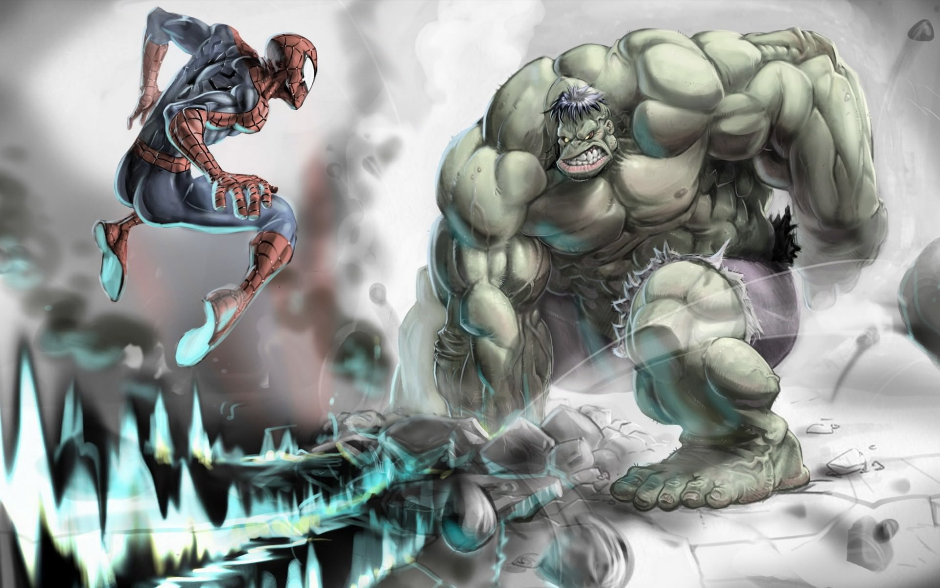 1360x768 Wolverine Vs Hulk Wallpaper
