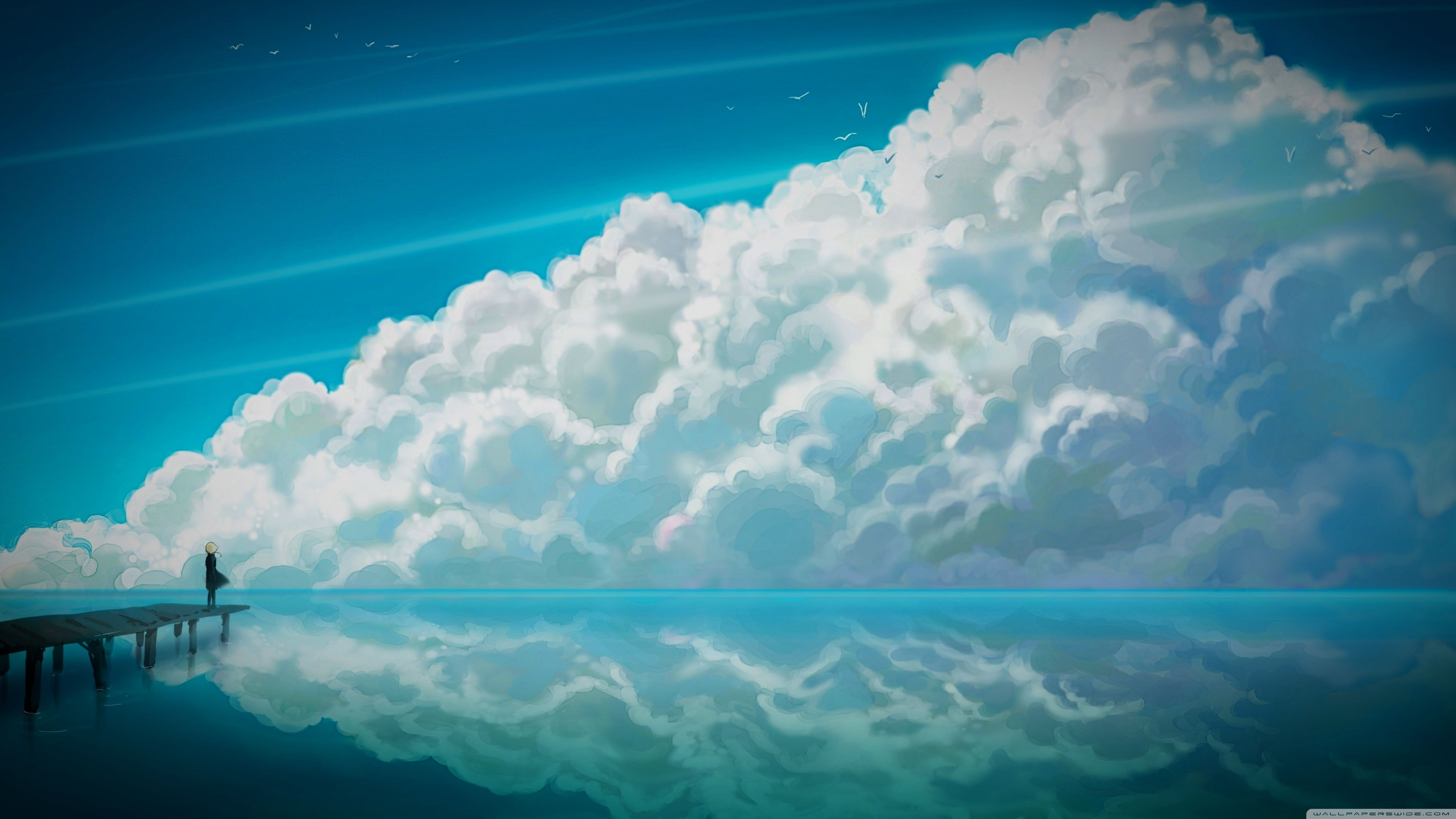 Anime Sky Wallpapers Top Free Anime Sky Backgrounds