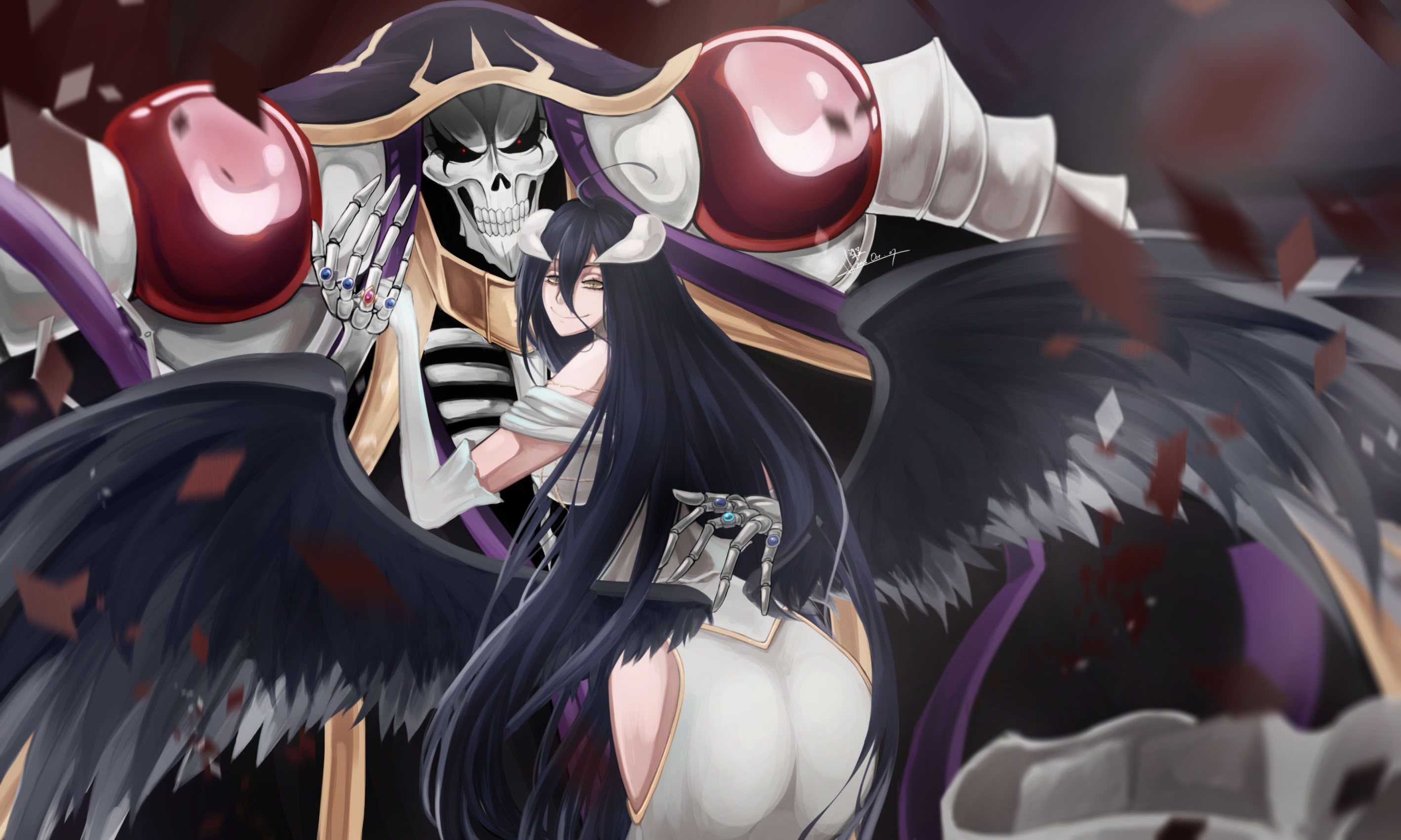 Albedo Overlord Wallpapers Top Free Albedo Overlord Backgrounds Wallpaperaccess