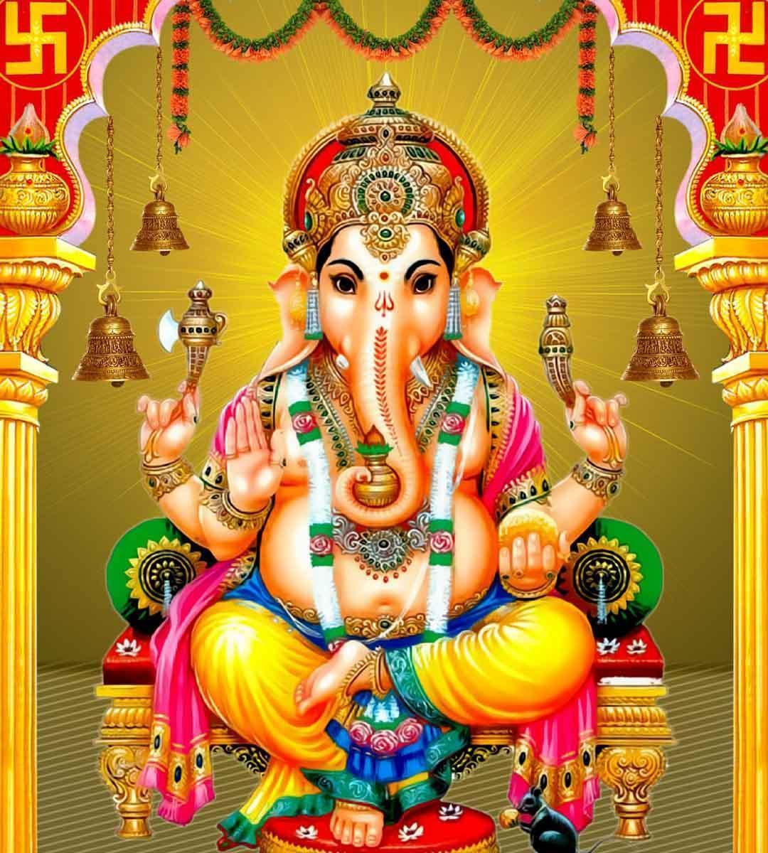 Hình nền HD 1080x1200 Lord Ganesh / Vinayaka dành cho Android