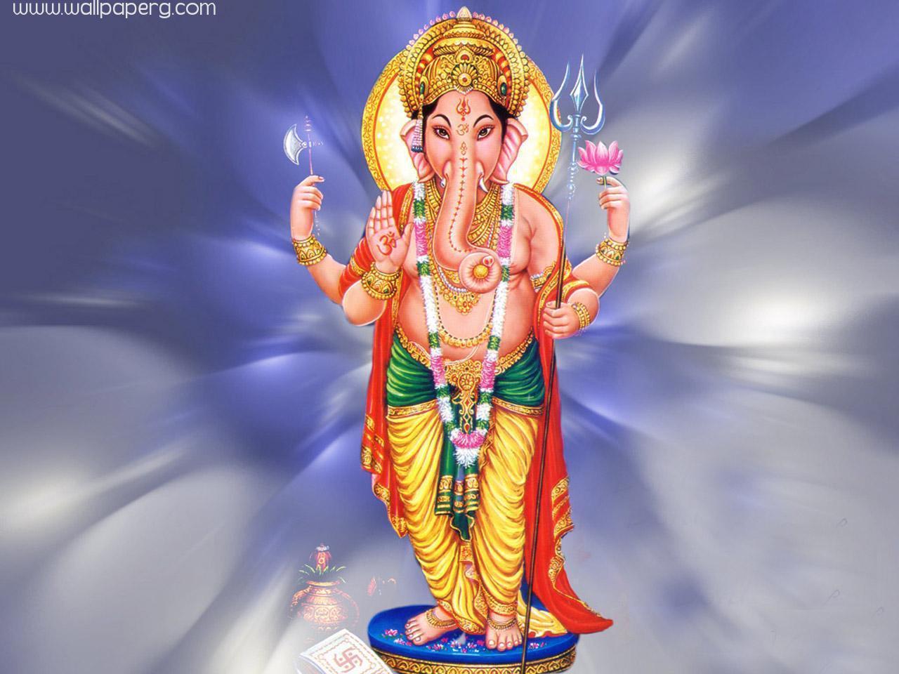1280x960 Vinayagar Wallpaper Tải xuống cho điện thoại di động - Lord Ganesha Standing