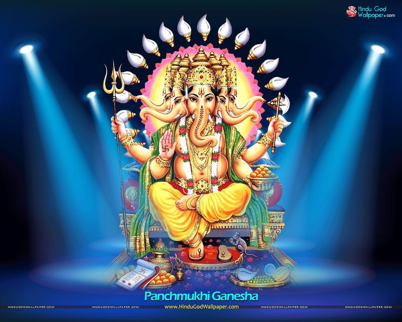 1280x1024 Vinayagar Hình nền Tải xuống - Panchamukhi Ganesh, Hình nền HD