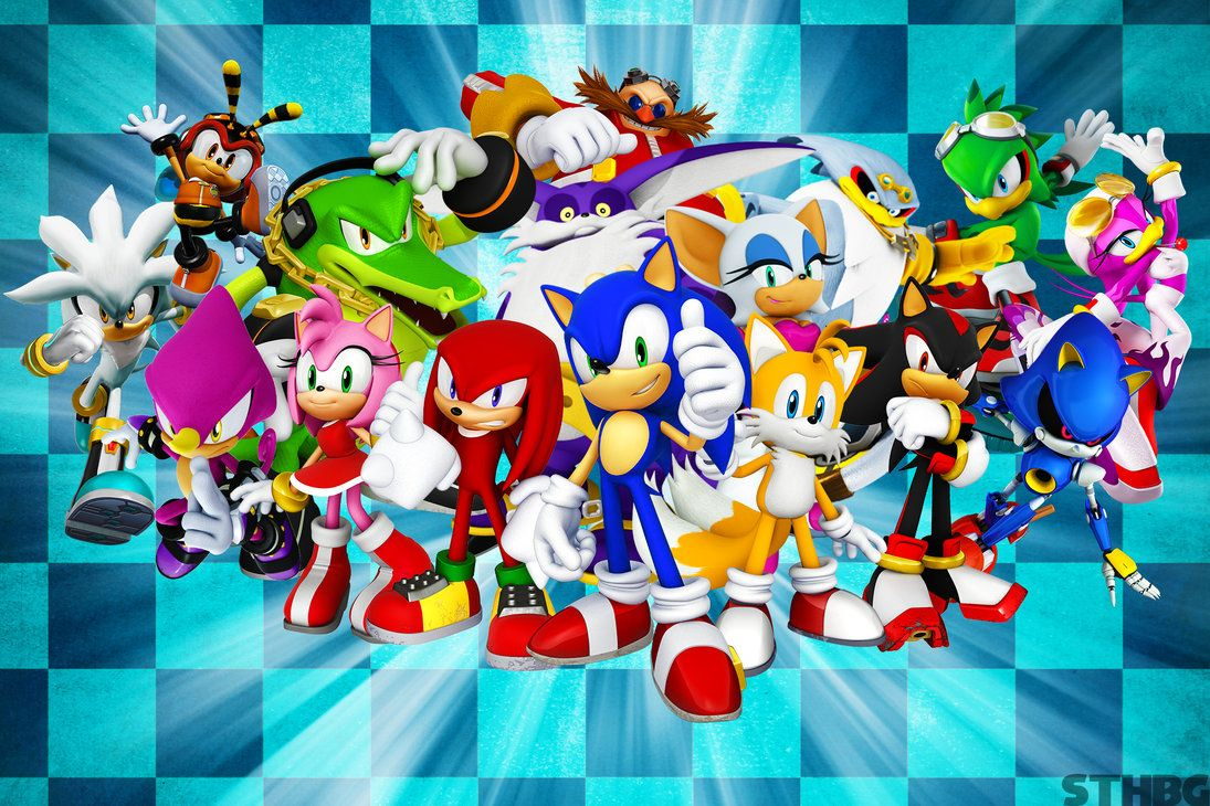 Sonic Characters Wallpapers Top Free Sonic Characters Backgrounds Wallpaperaccess