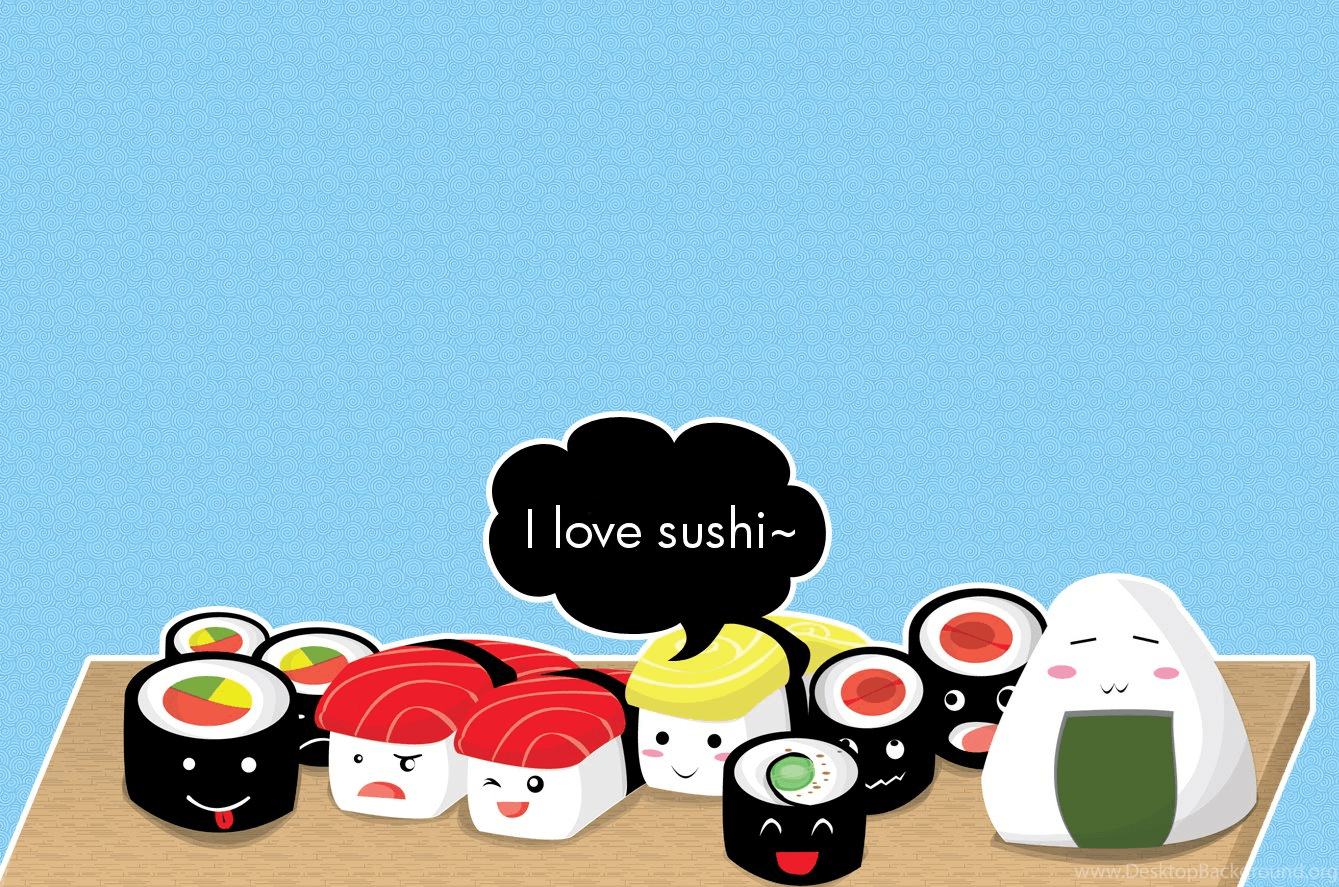 Kawaii Sushi Wallpapers Top Free Kawaii Sushi Backgrounds