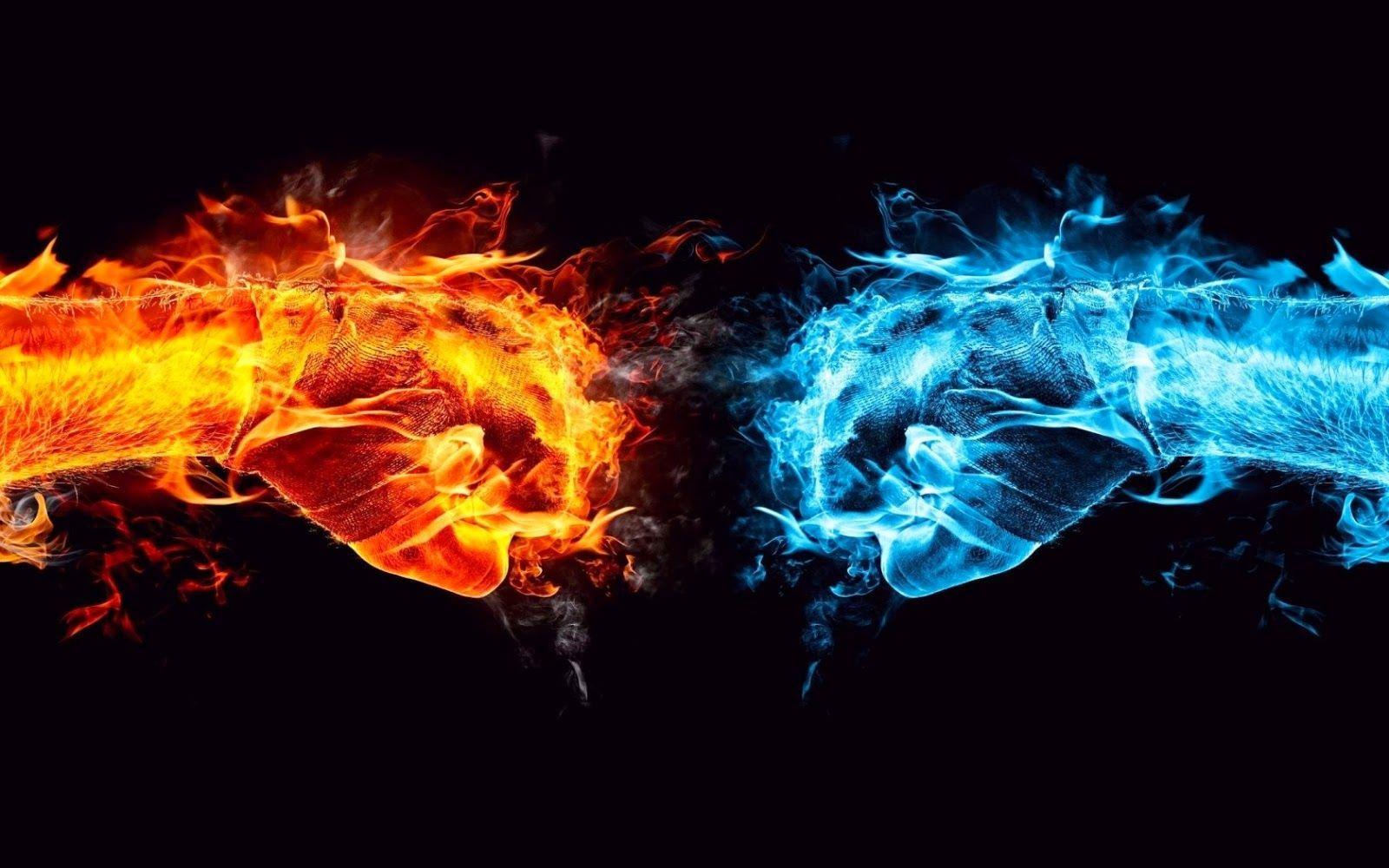 Fire Wallpaper Fire Vs Water Twin Flame Art