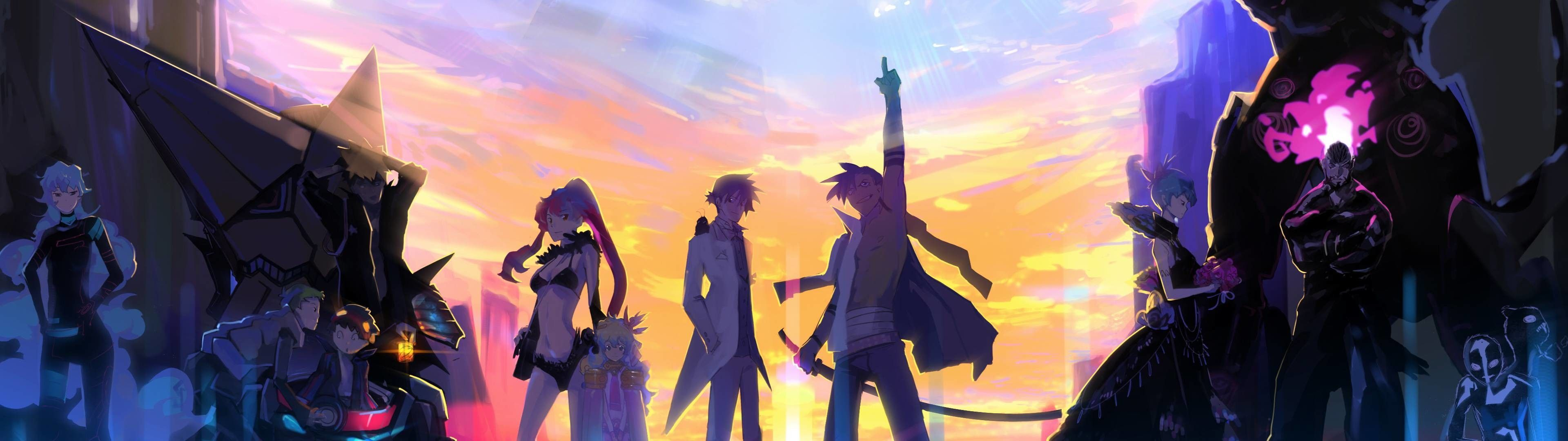Dual Monitor Anime Wallpapers Top Free Dual Monitor Anime Backgrounds Wallpaperaccess