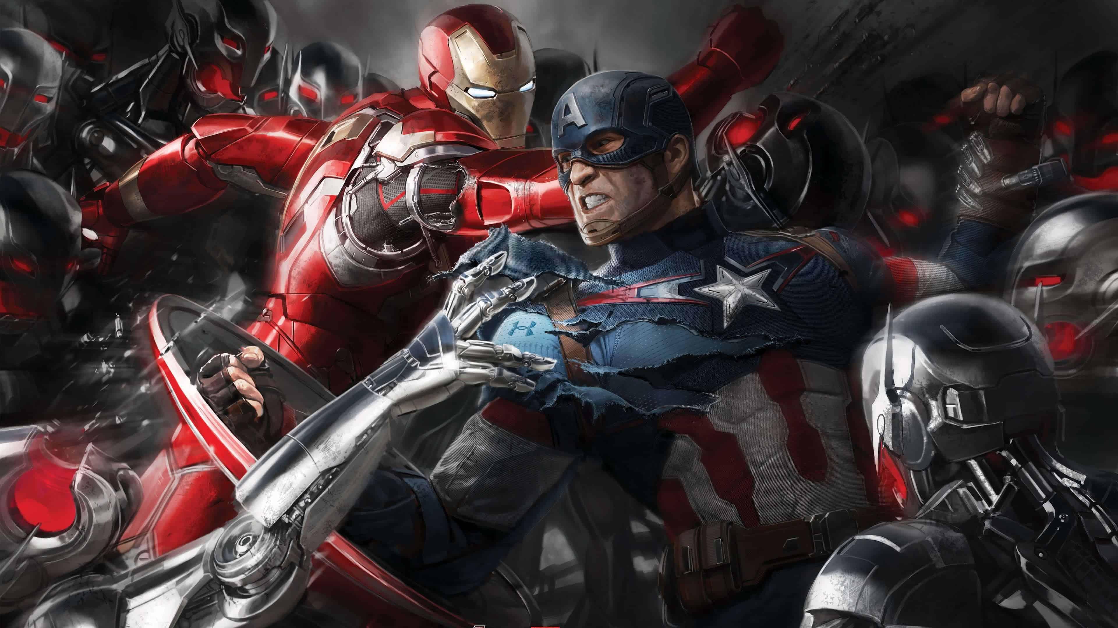 Iron Man Vs Captain America Wallpapers Top Free Iron Man Vs