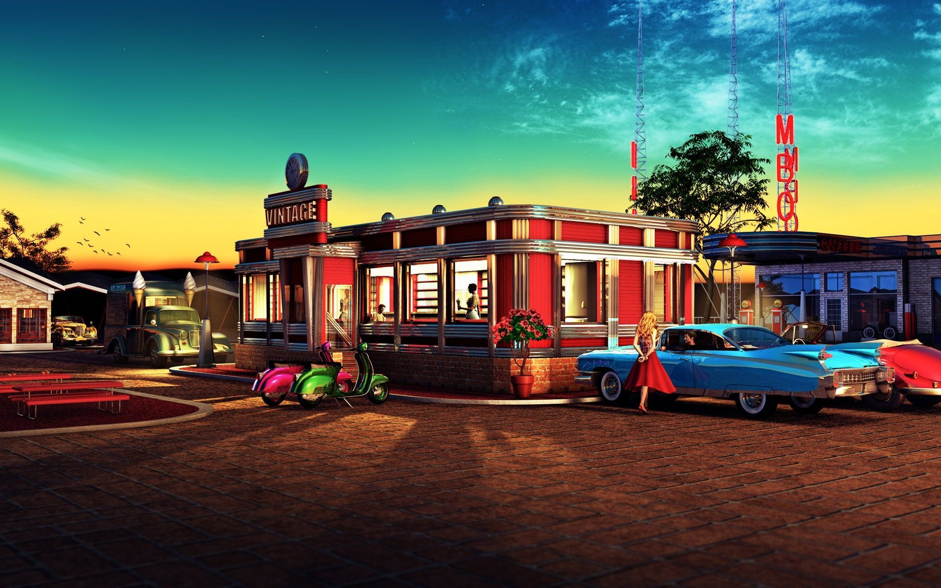 1950s City Wallpapers Top Free 1950s City Backgrounds