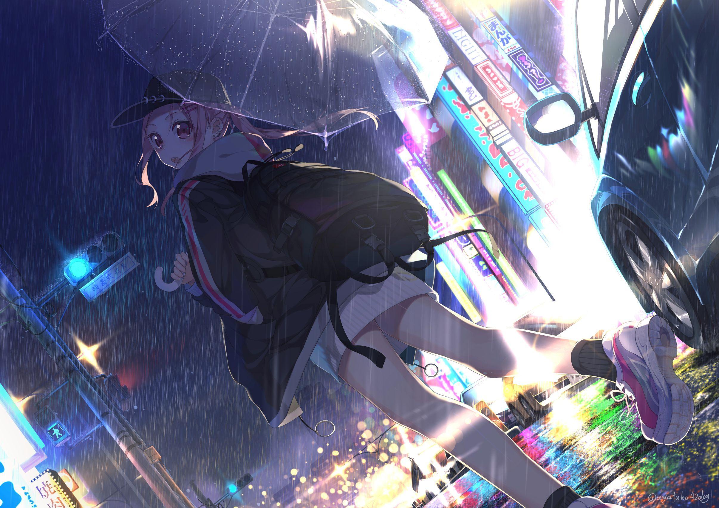 Anime Girl Rain Wallpapers - Top Free ...