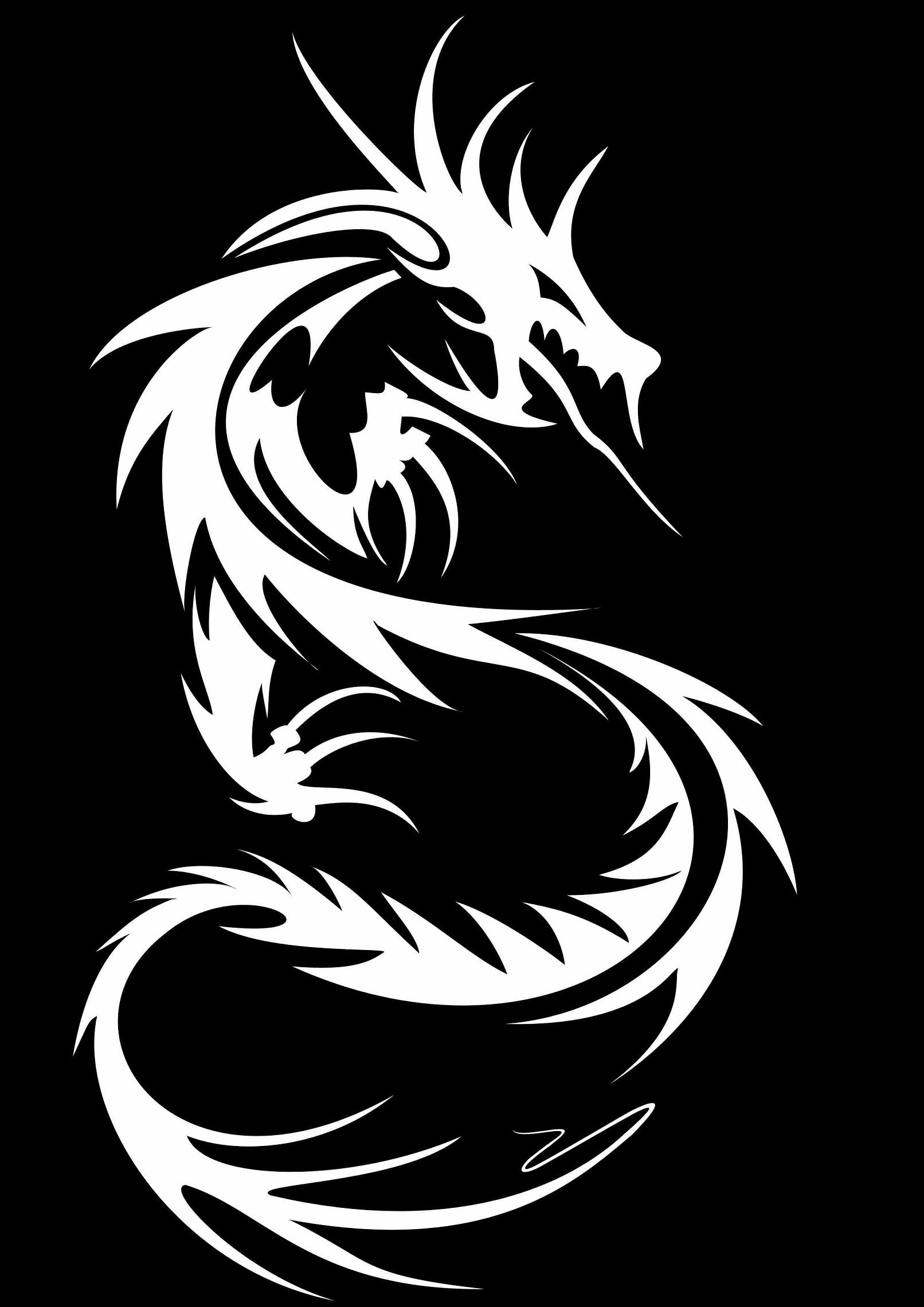 Tribal Dragon Wallpapers Top Free Tribal Dragon Backgrounds Wallpaperaccess