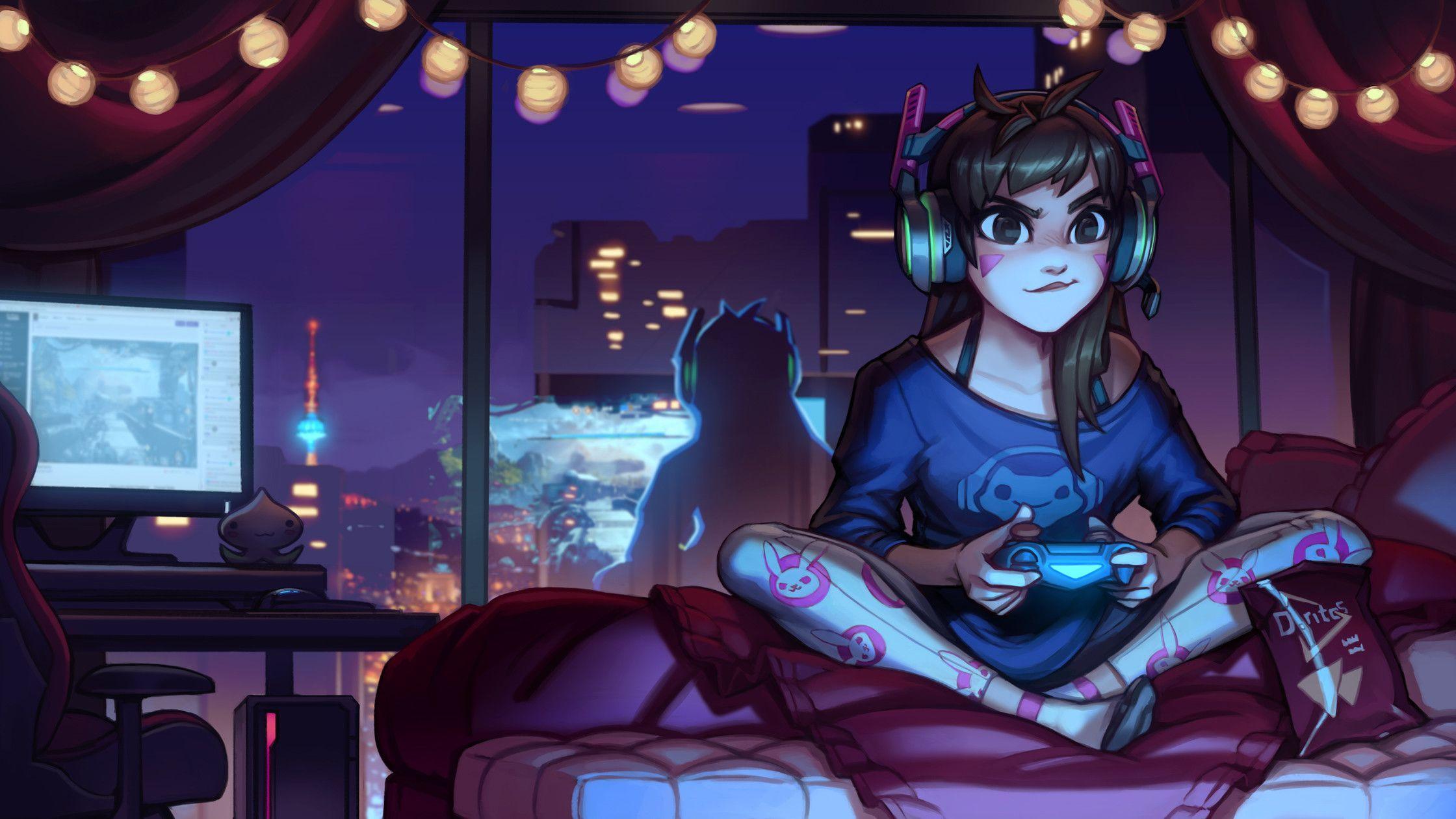 Gaming Anime Girl Wallpapers - Top Free Gaming Anime Girl