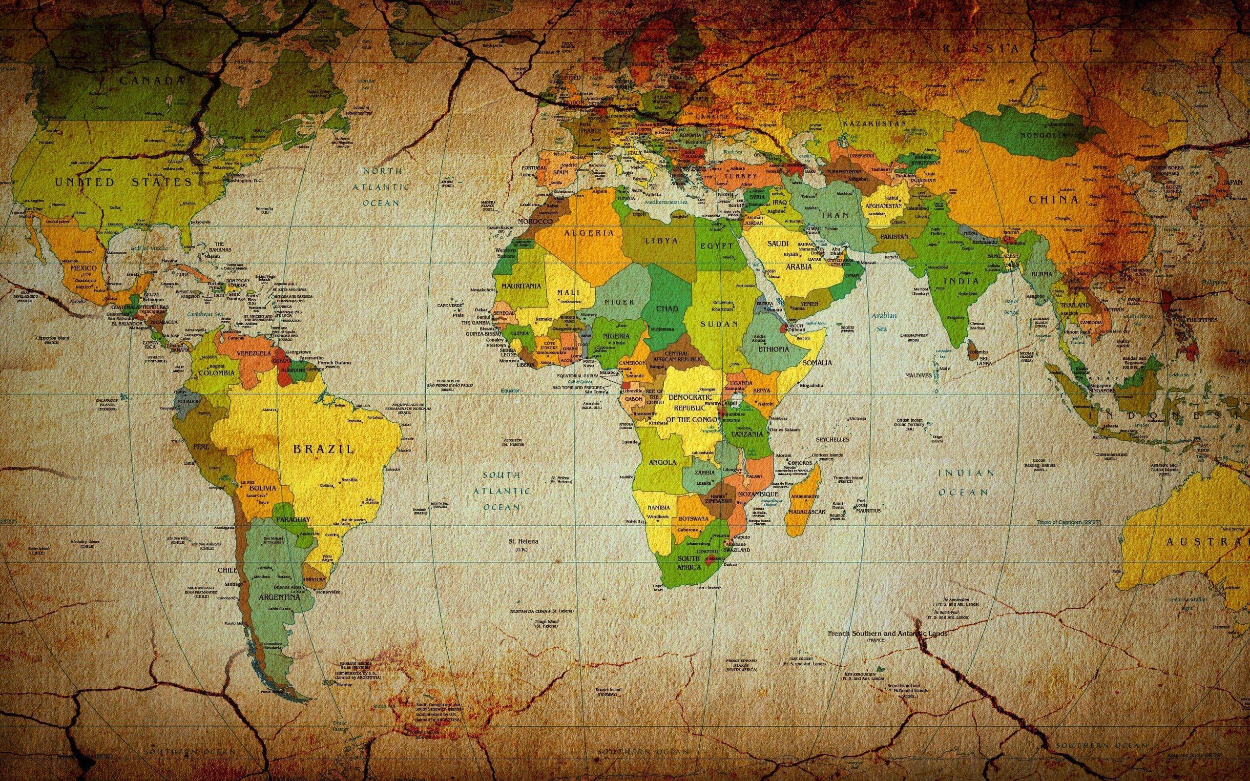 Hình nền máy tính để bàn 2560x1600 Bản đồ thế giới
