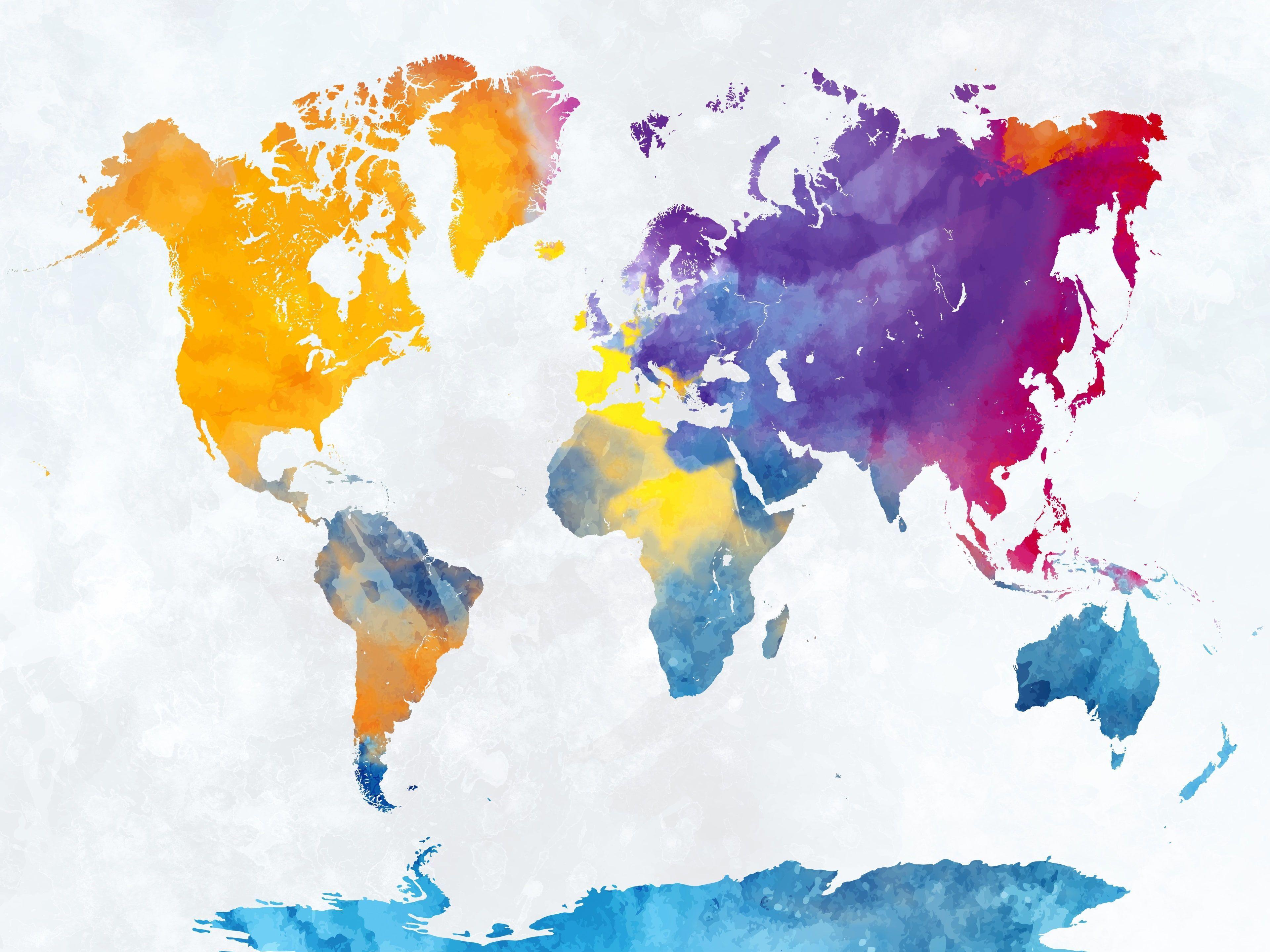 3840x2880 bản đồ thế giới 4k tải xuống HD K # tường giấy #hdwallpaper #desktop