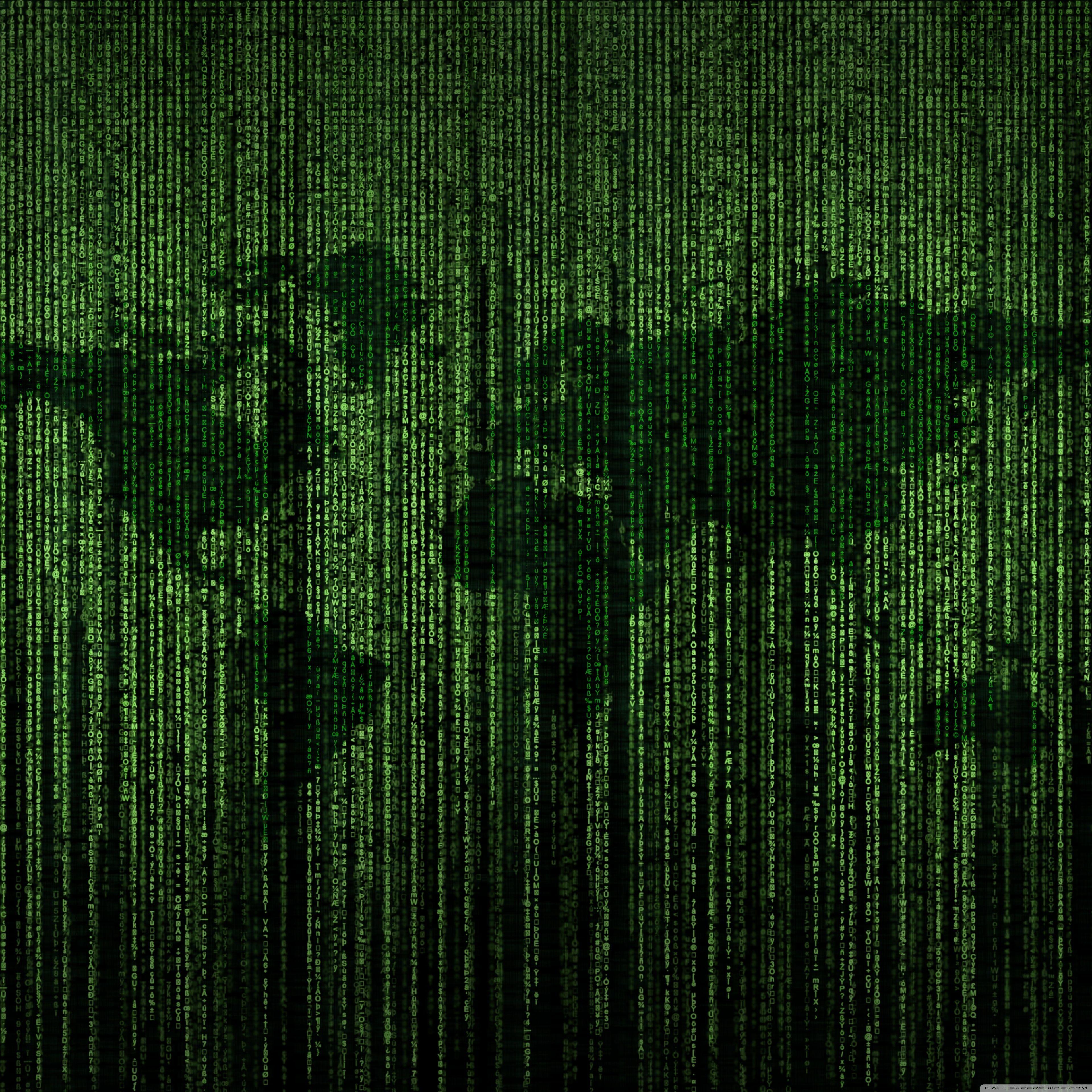 3840x3840 Tải xuống miễn phí Mã ma trận xanh Bản đồ thế giới Hình nền máy tính 4K HD