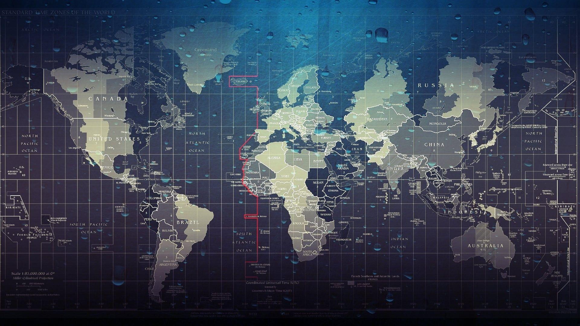 Hình minh họa bản đồ thế giới 1920x1080 # tác phẩm # bản đồ giọt nước thế giới nghệ thuật kỹ thuật số