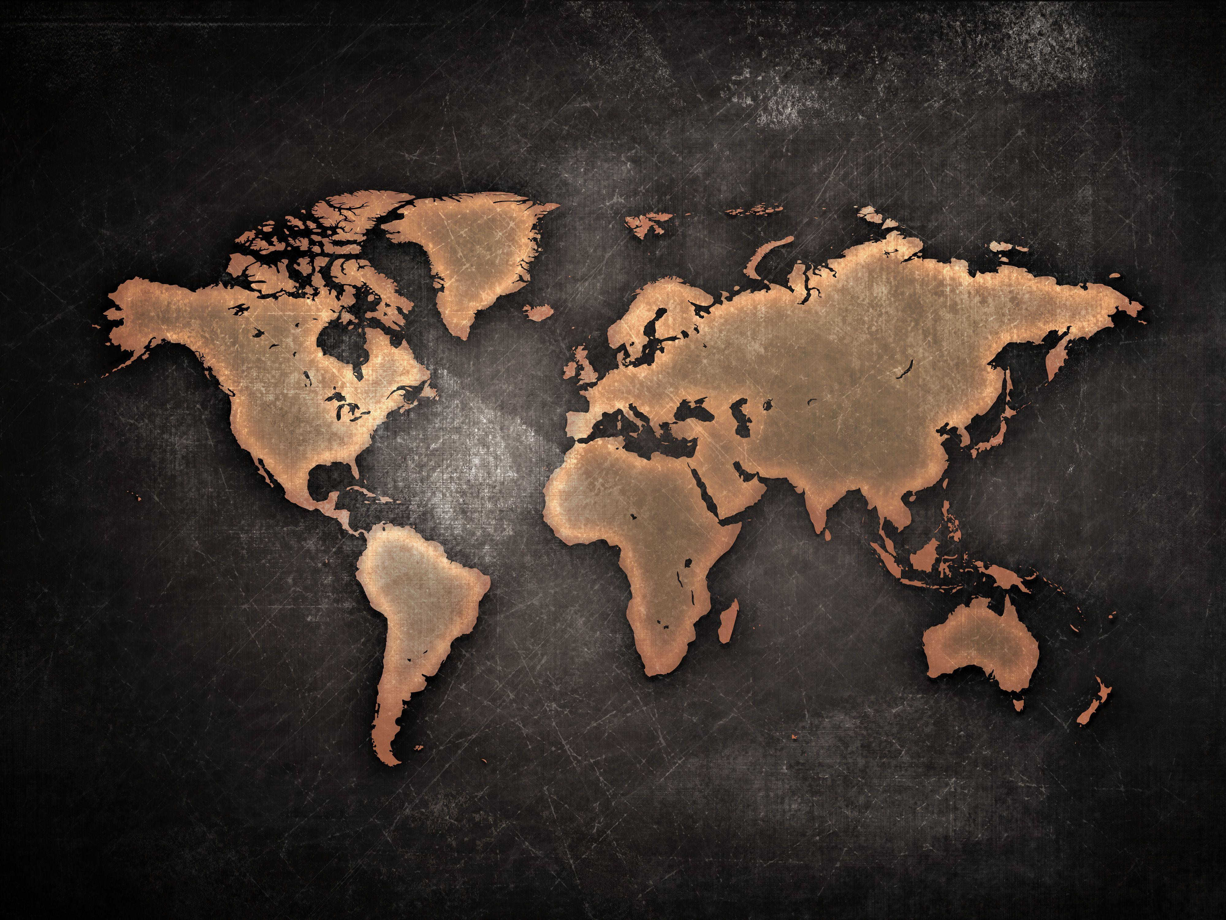 Hình nền bản đồ thế giới 4K Ultra HD 4000x3000