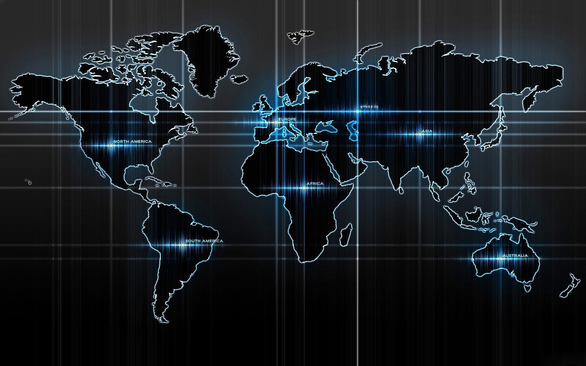 Nền bản đồ thế giới chất lượng cao và đầy cảm hứng 1920x1200