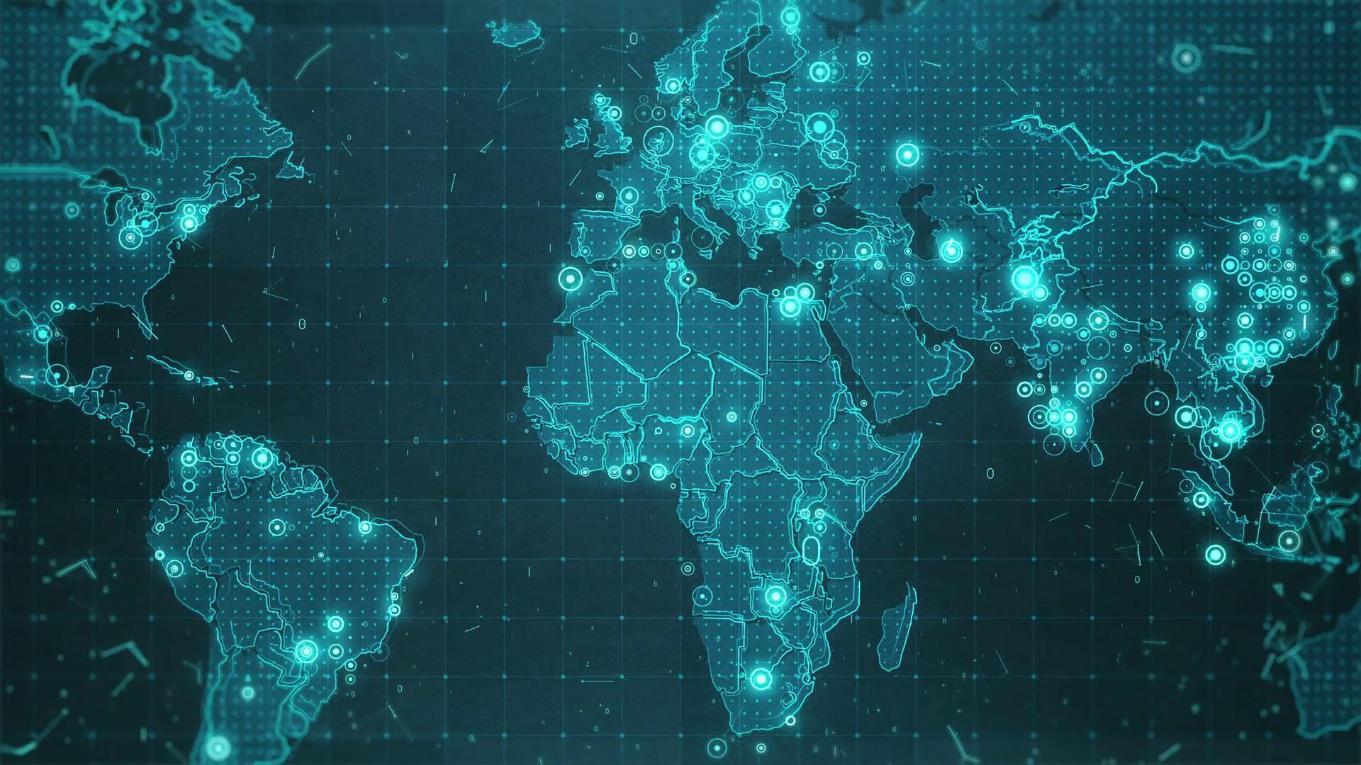 Hình nền máy tính để bàn 1920x1080 World Map 4k